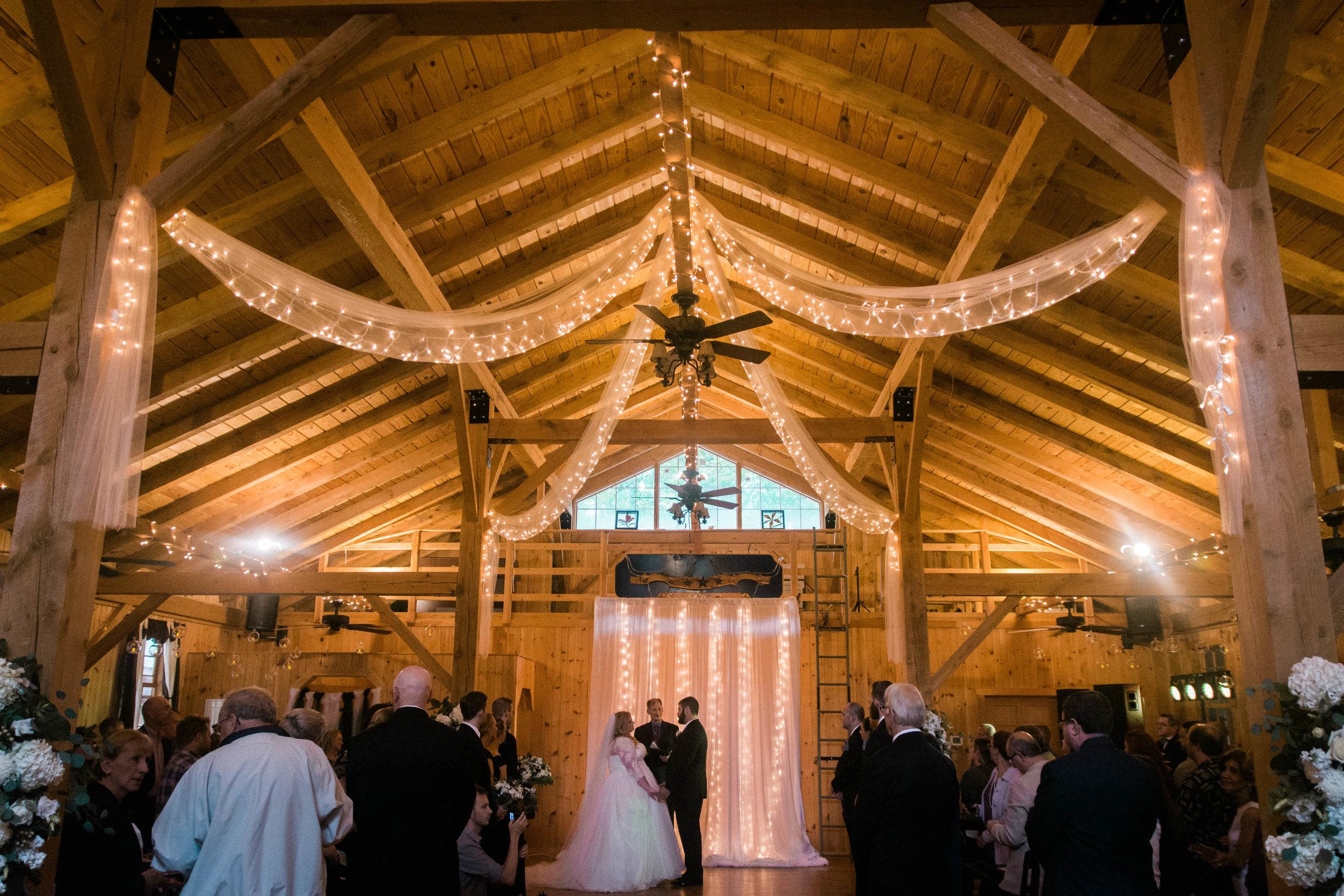 serra valley farms barn ceremony photo