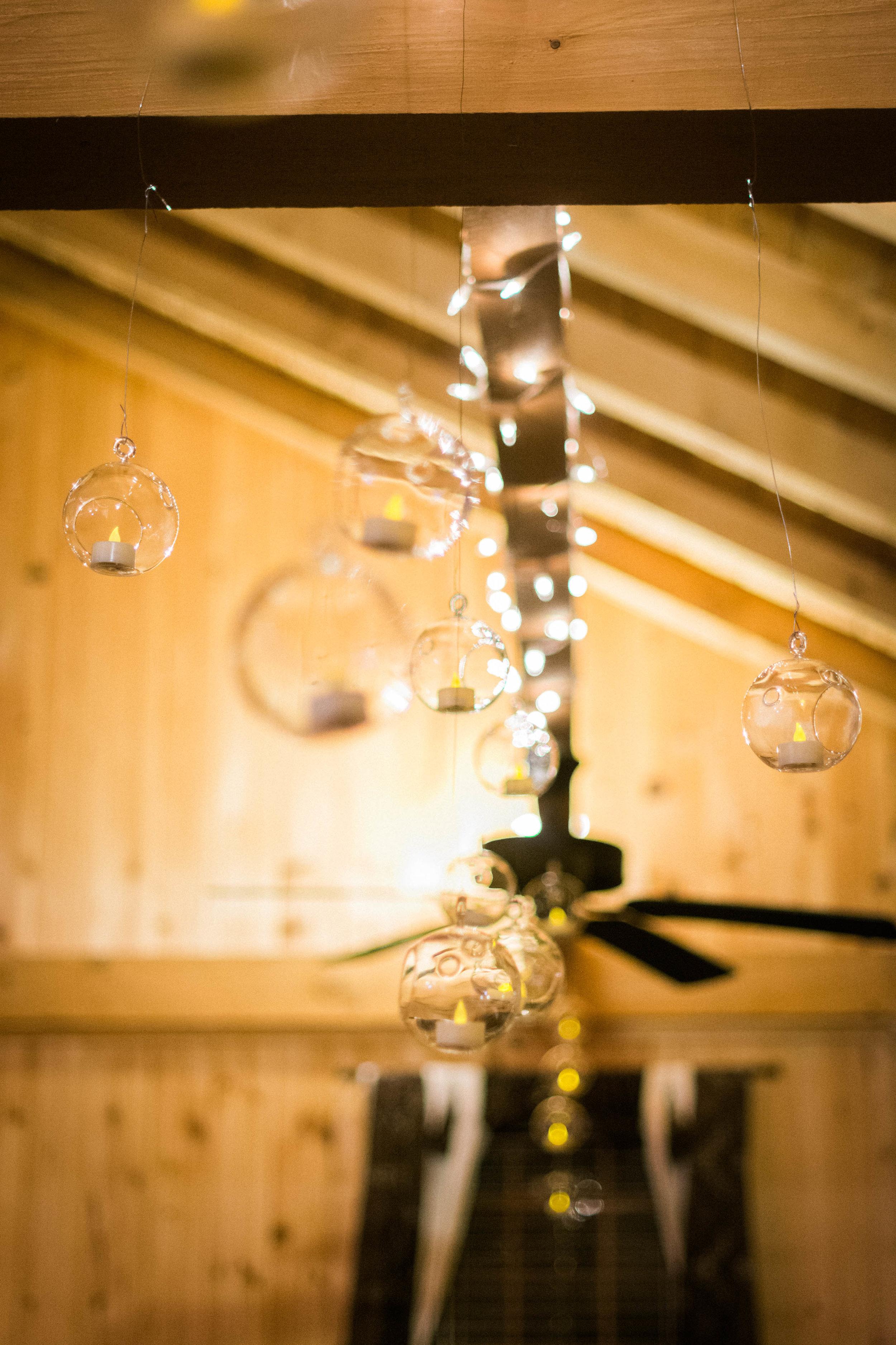 reception rustic bulb decor photo