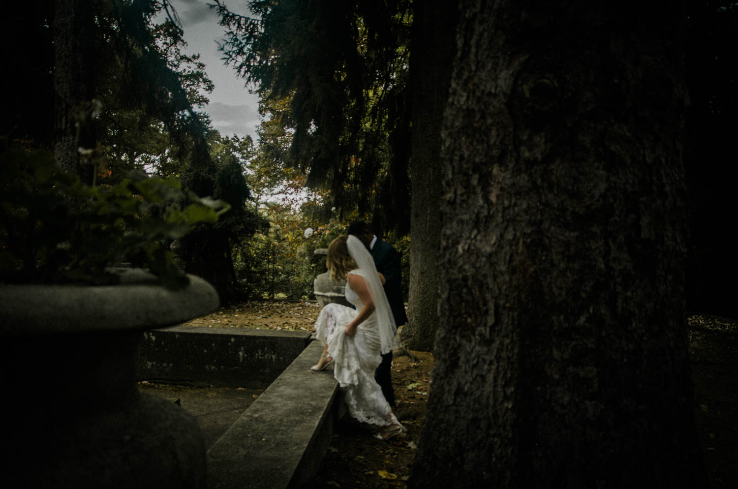bride and groom alice and wonderland styled shoot photo