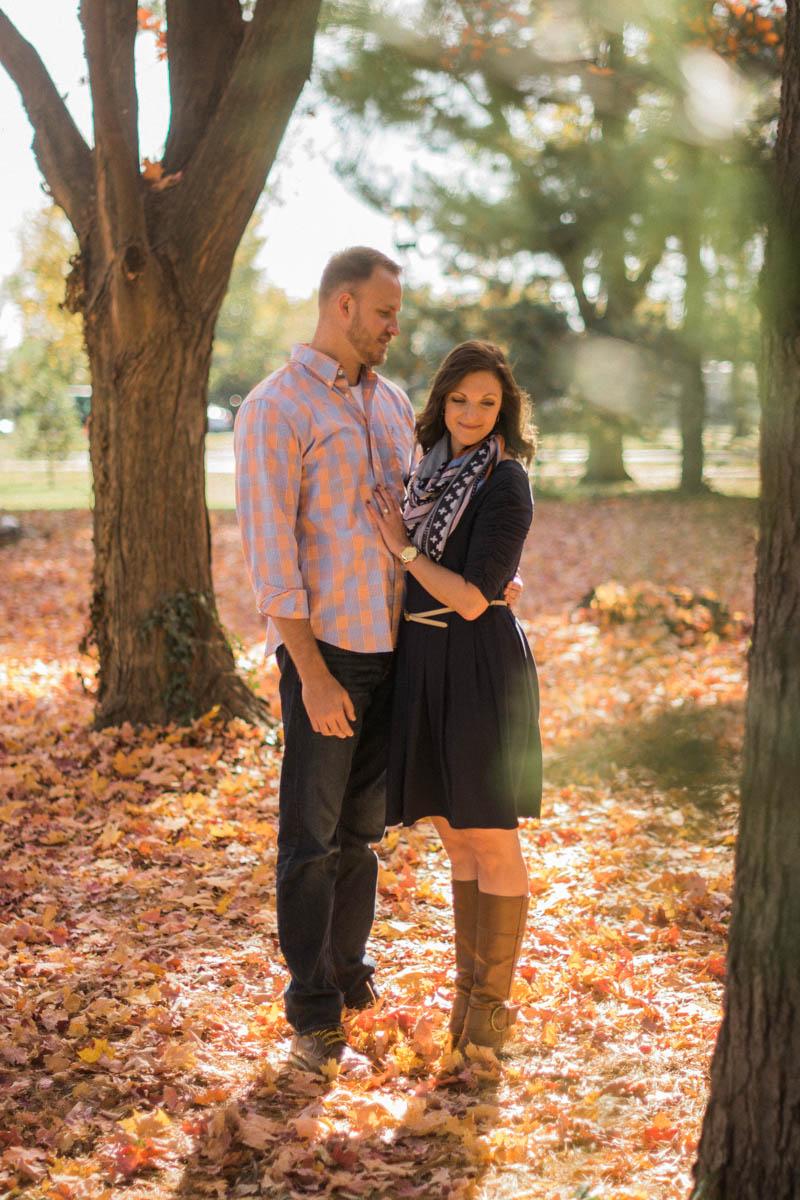 Washington DC fall Engagement Session Photo