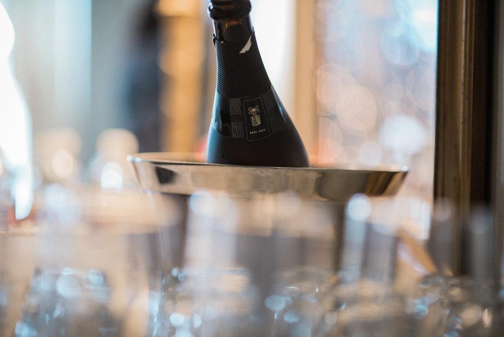 ceresville mansion wedding champagne photo