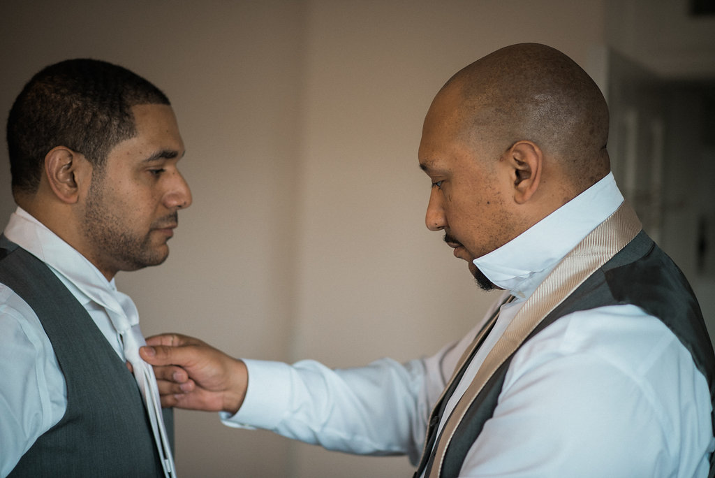 ceresville mansion groom and bestman getting ready photo