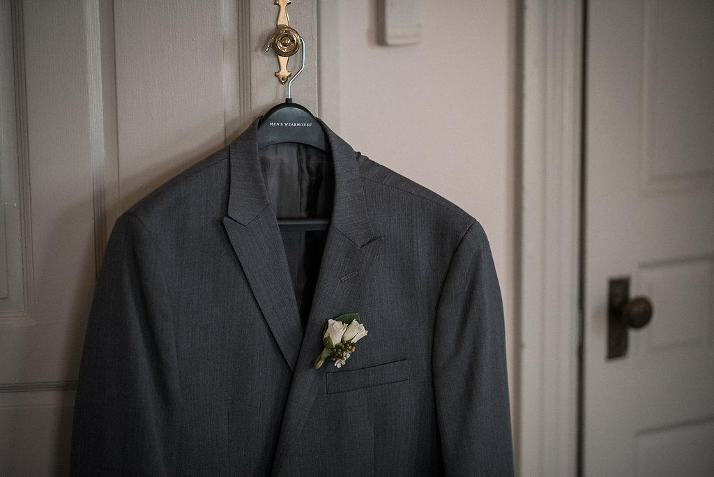 groom detail suit jacket photo