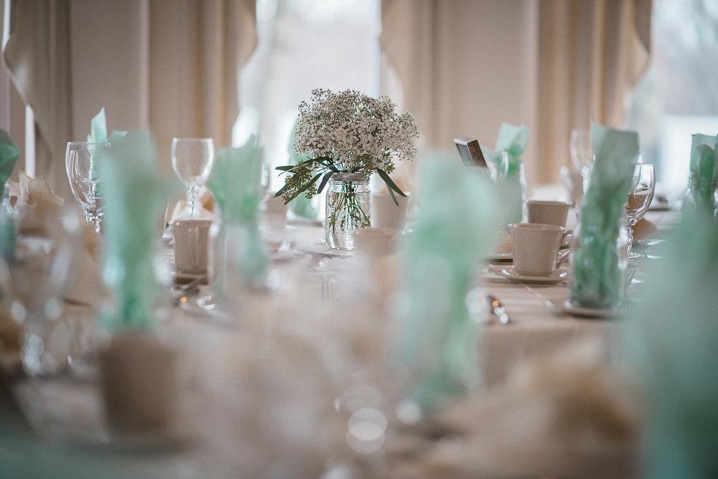 wedding reception details at ceresville mansion photo