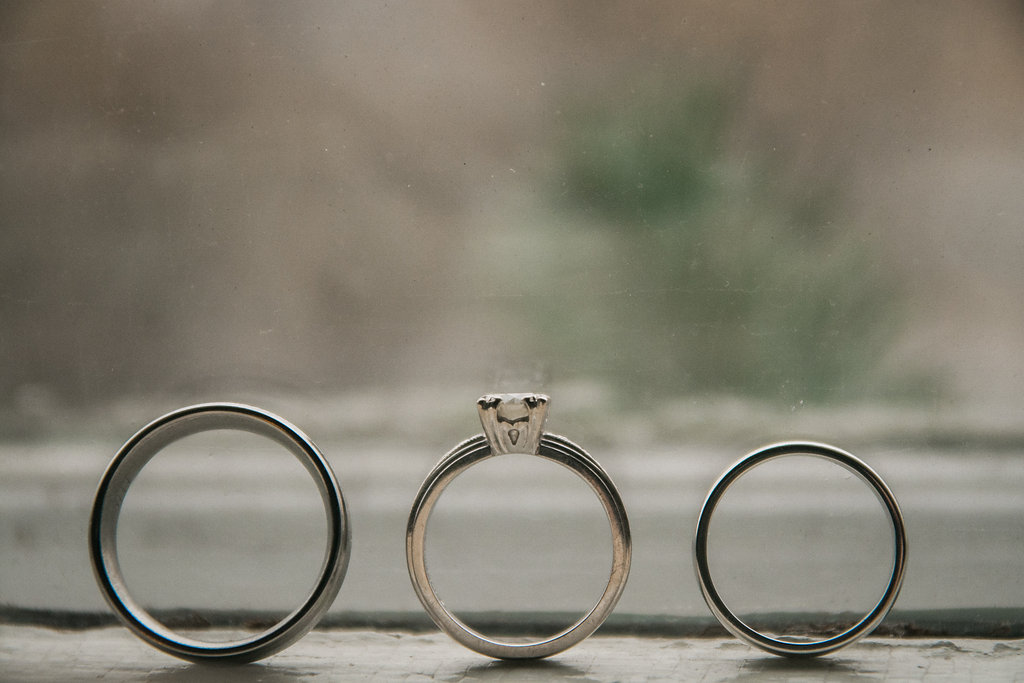 bride and groom ring shot photo