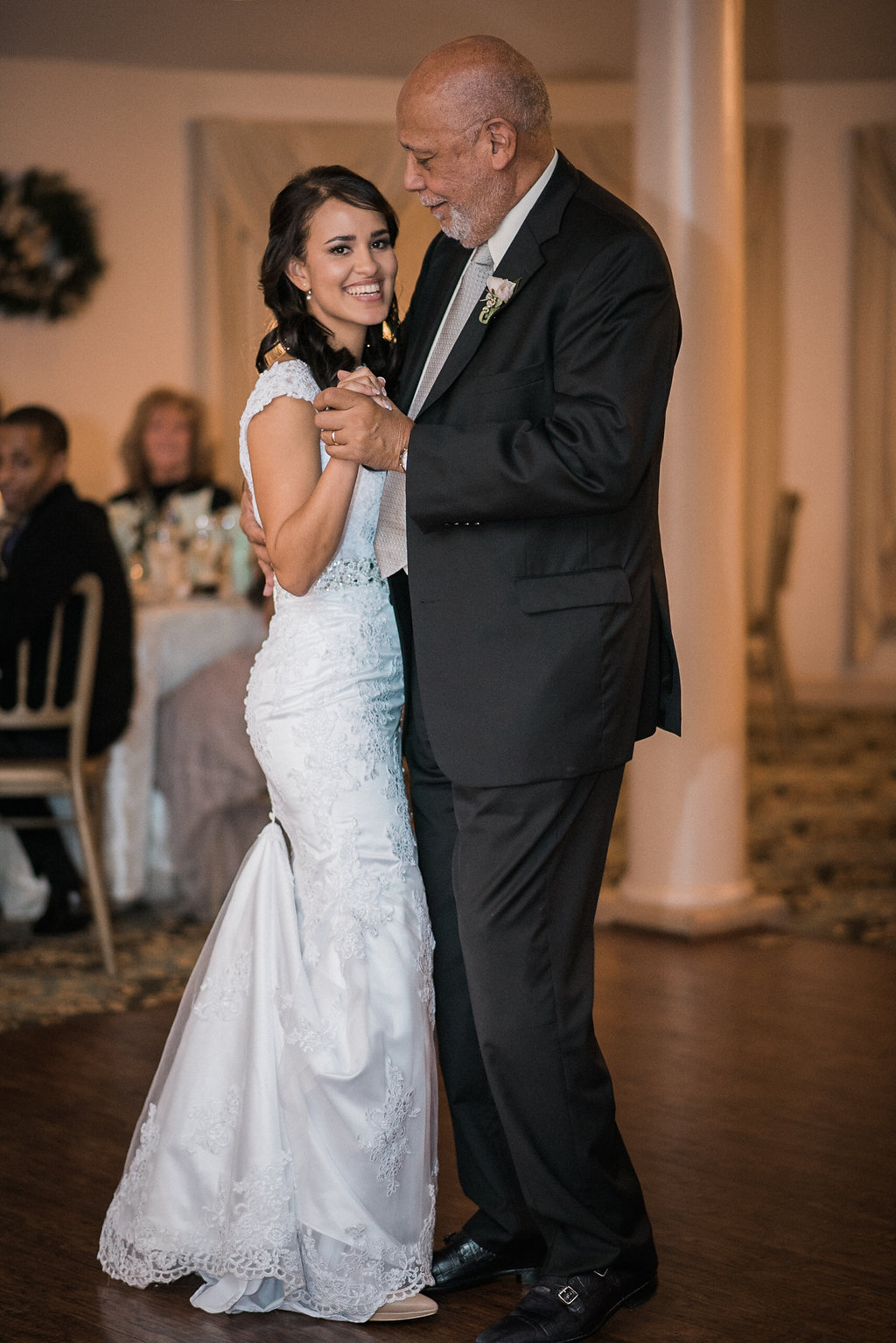 bride and father in law first dance photo