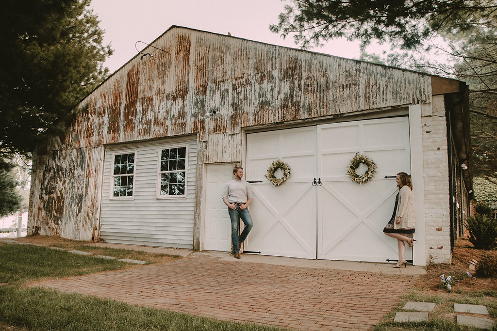 rustic engagement session at the inn at the old silk mill photo