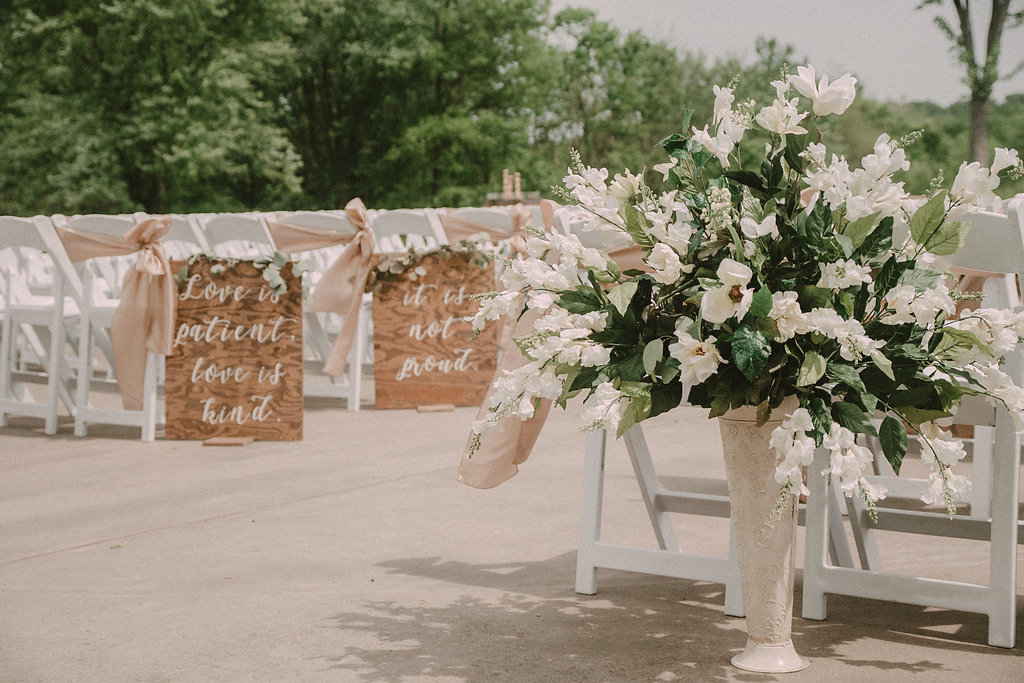 Ceremony space with chairs
