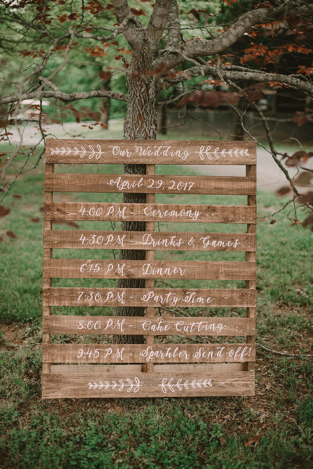 rustic wedding decor photo