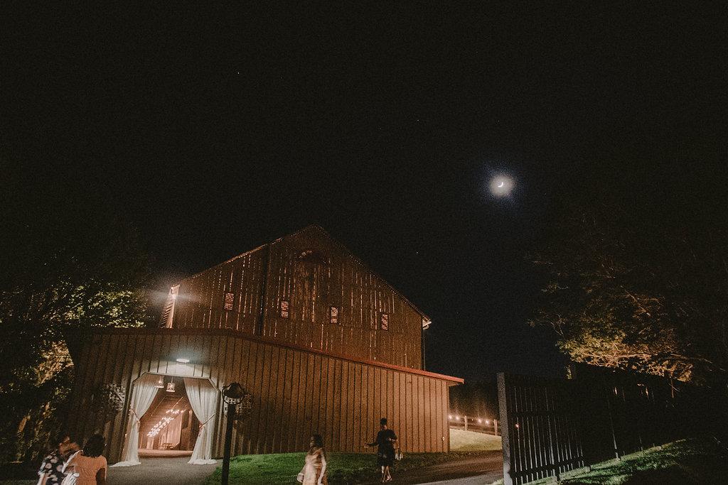 riverside on the Potomac barn at night photo