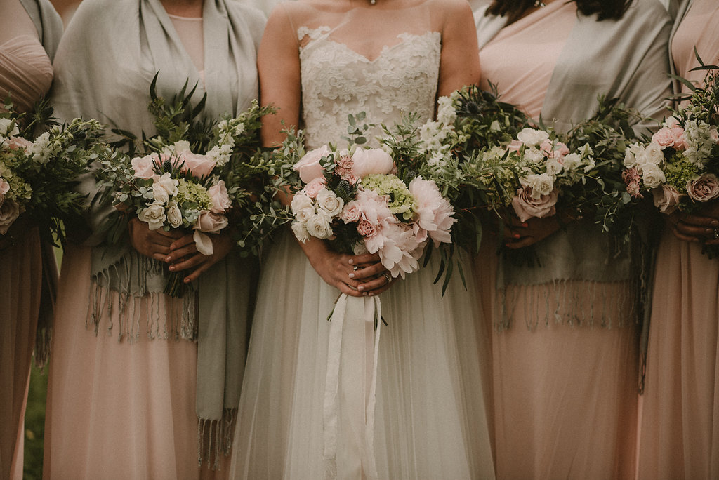Brides bouquets up close