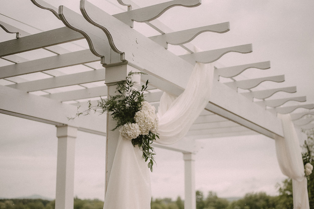 Wedding pergola in ceremony space