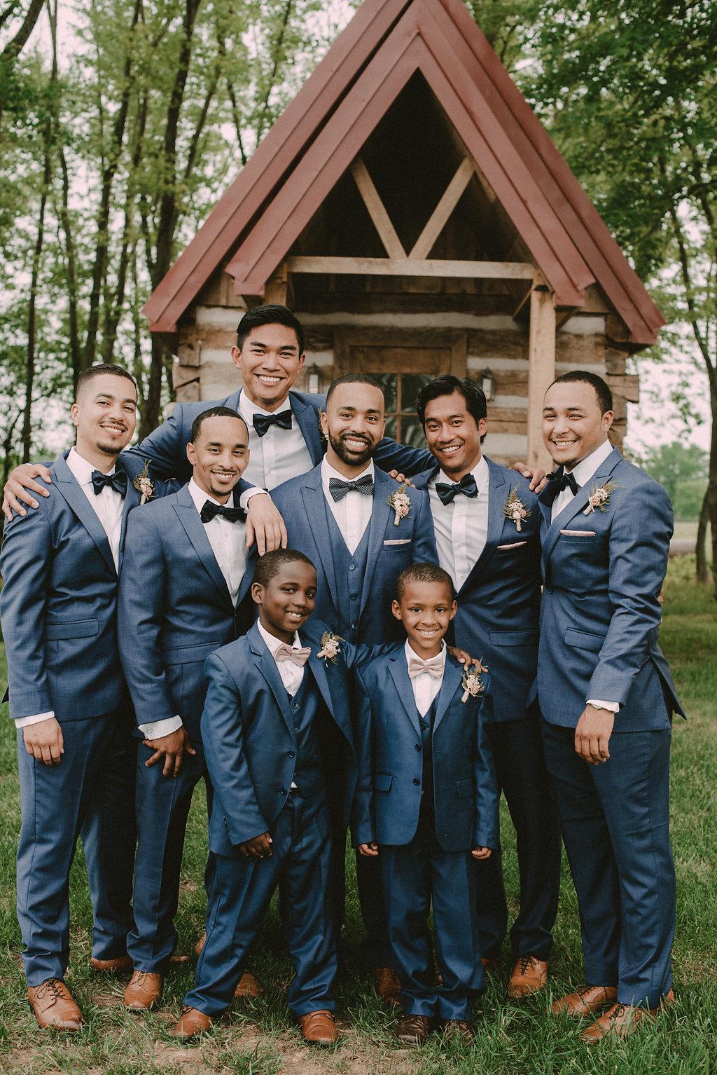 dapper Groom and groomsmen photo