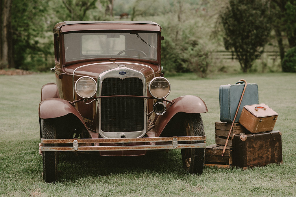 riverside on the potomac old ford pickup and vintage luggage decor photo