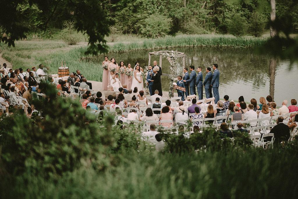 wide angle ceremony photo riverside on the potomac photo