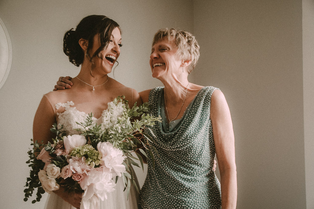 bride and mom photo