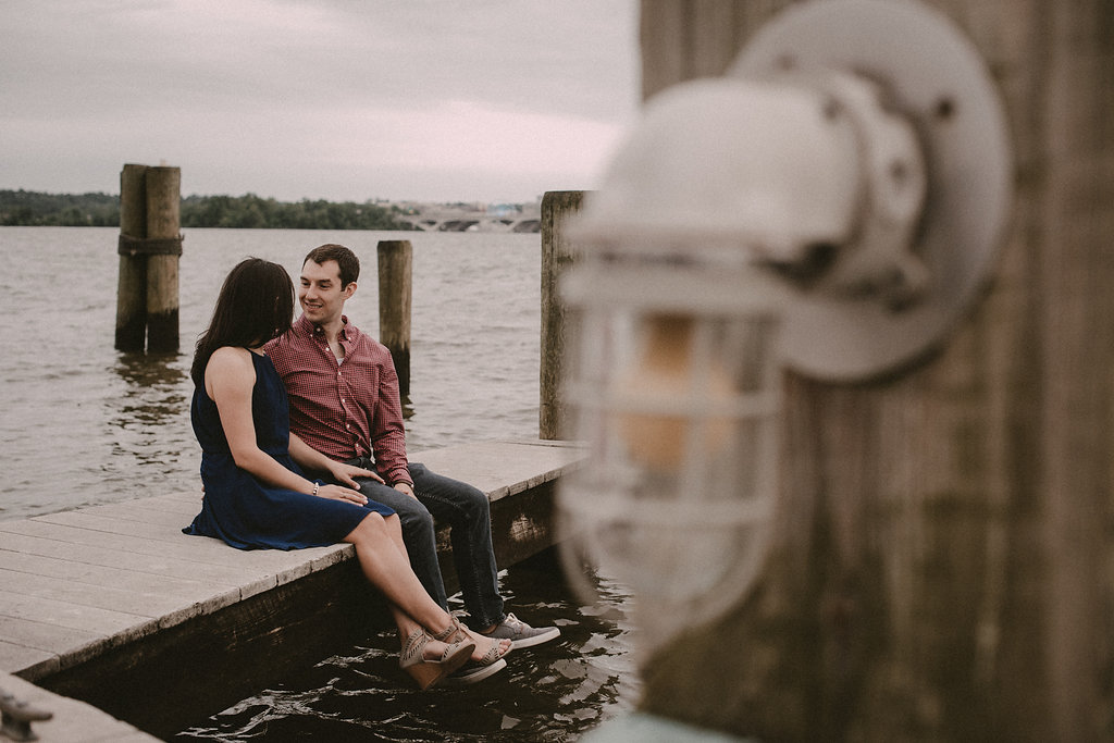 couple on dock in old town Alexandria photo
