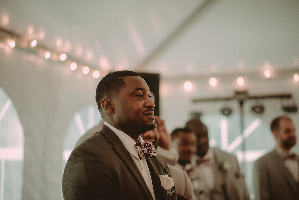 Groom standing at altar