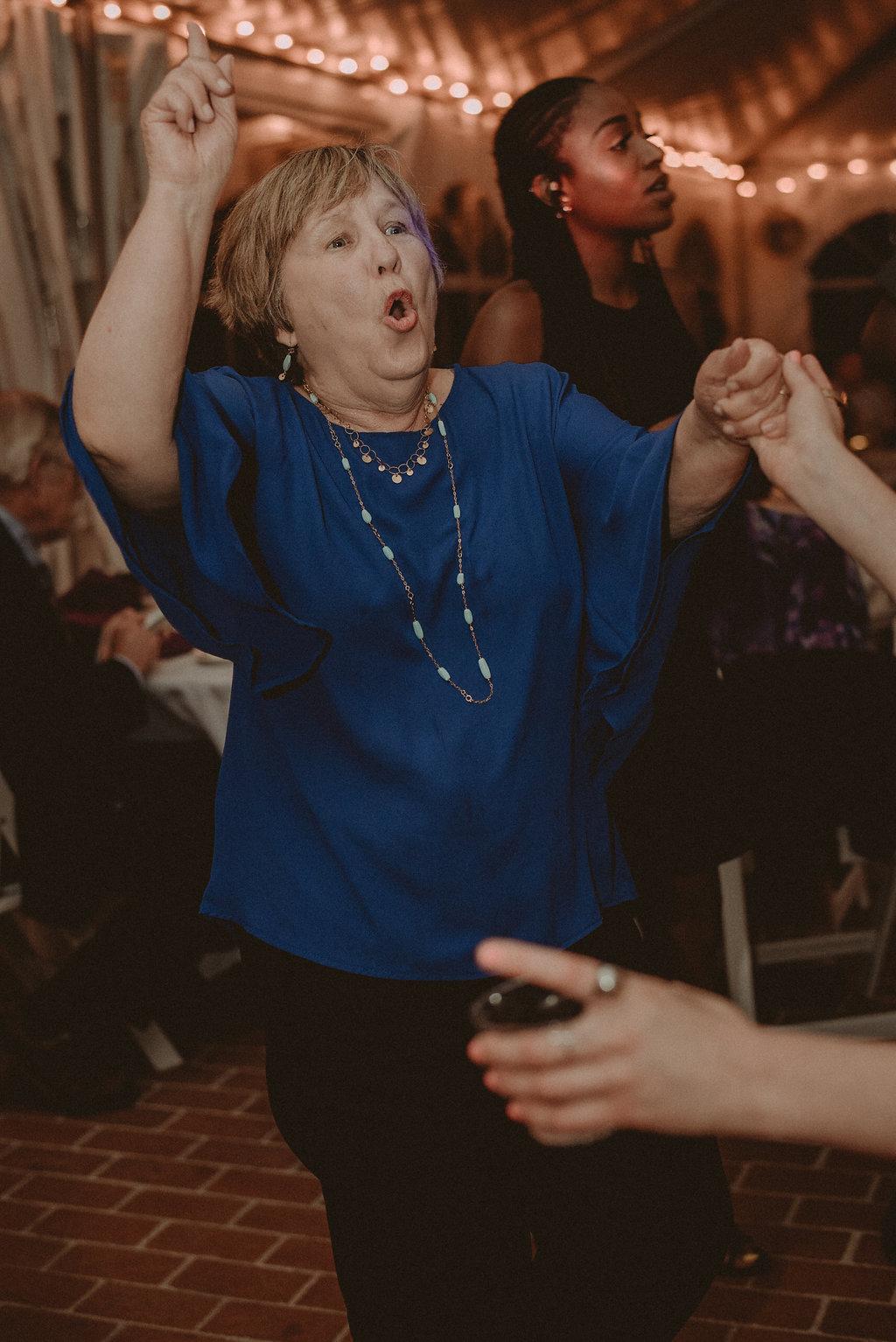 Dancing wedding guest