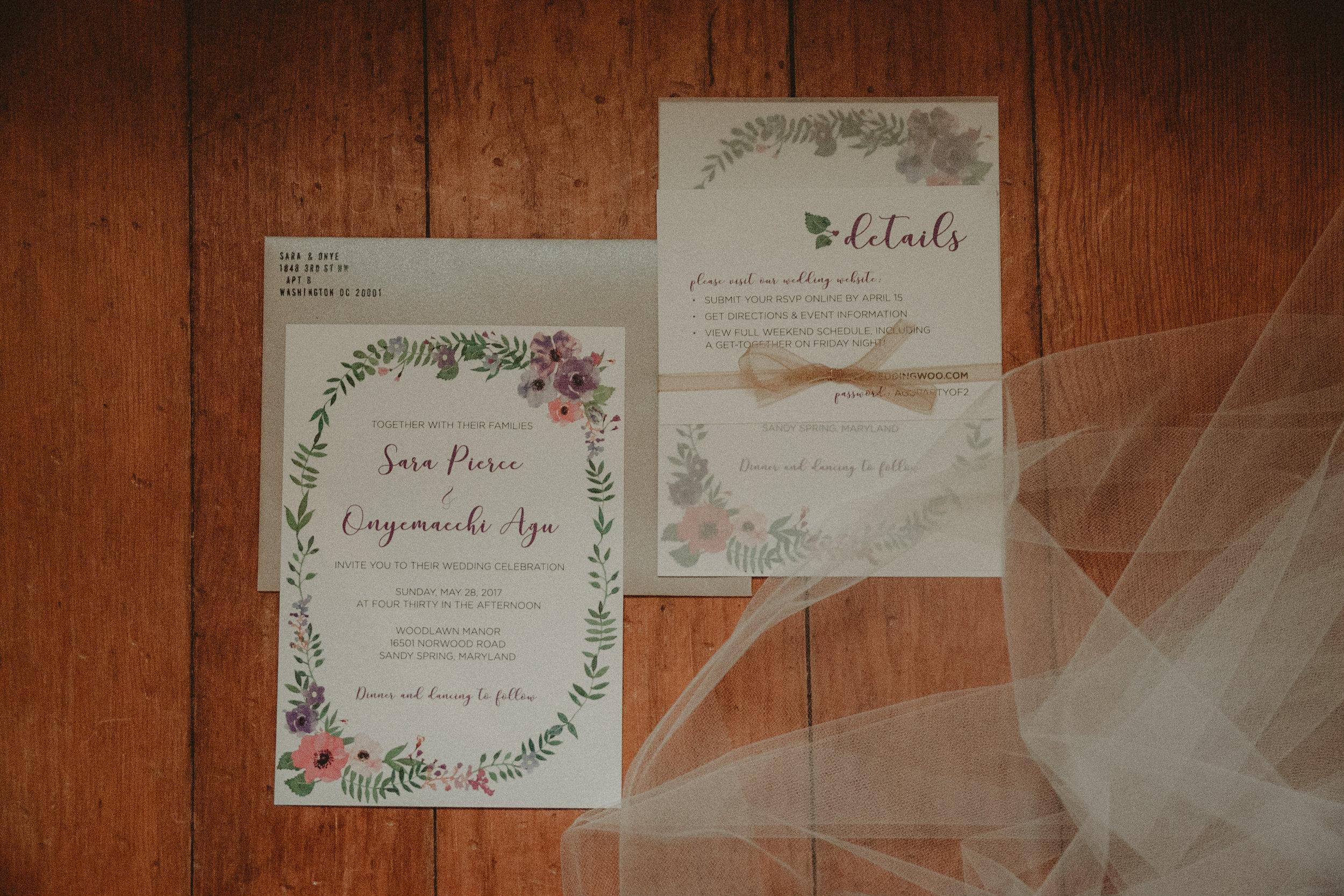 Wedding Invitation suite photo