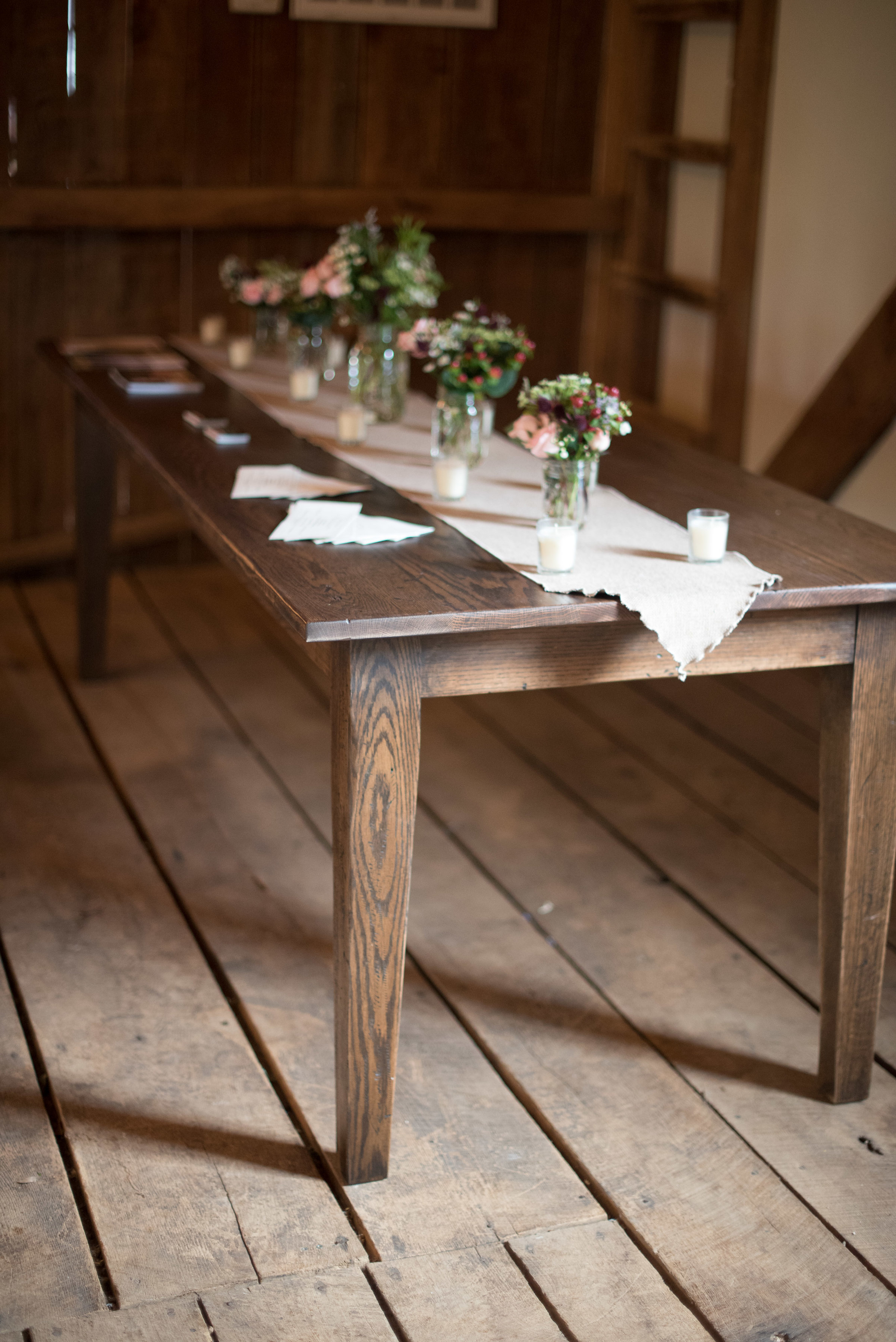 local wood wedding farm table rentals photo