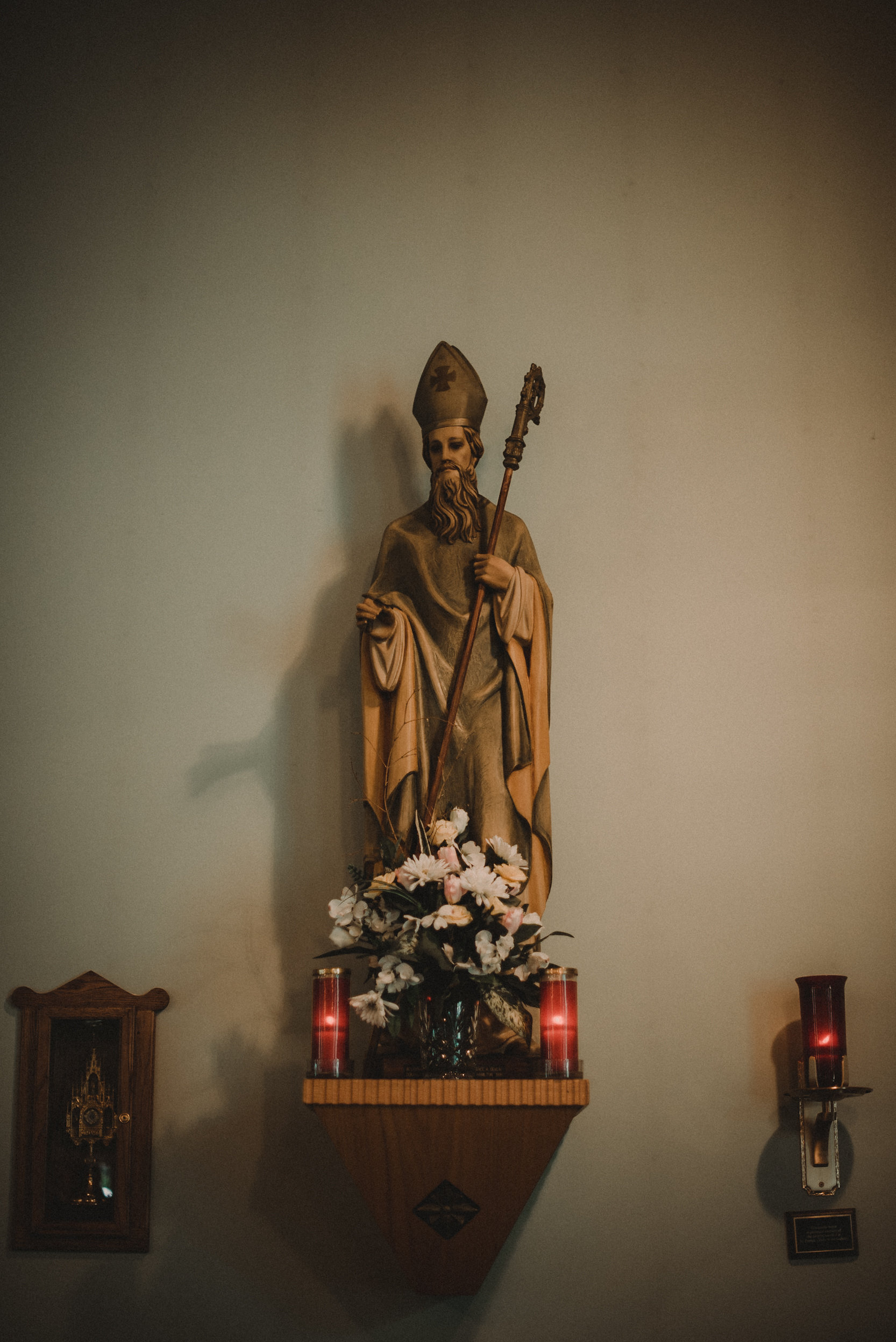 Statuette in Catholic church