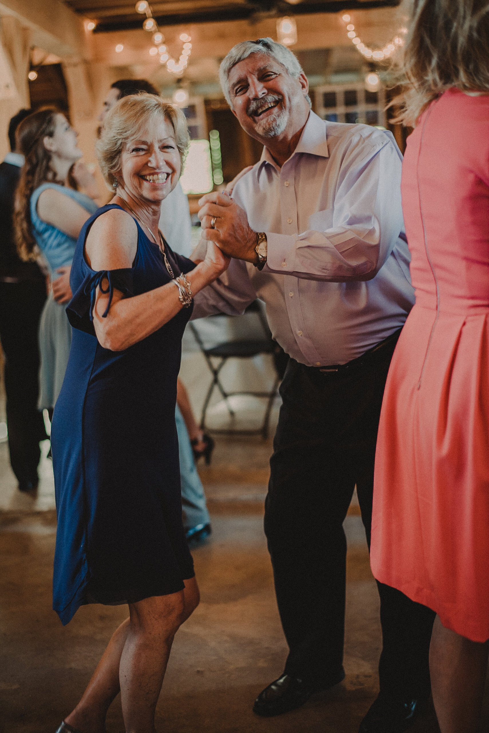 Guests dancing at wedding