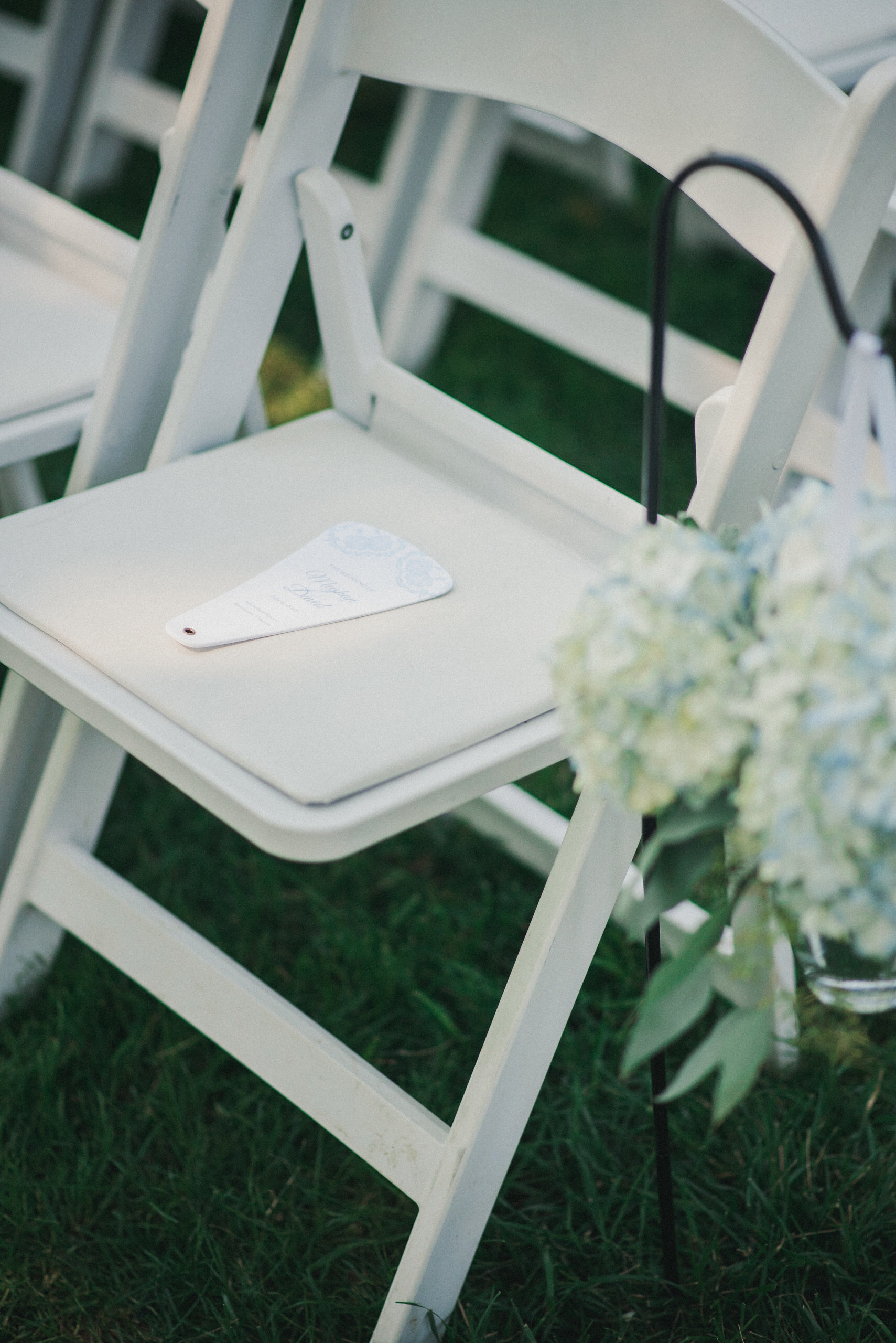 Guest chair at wedding