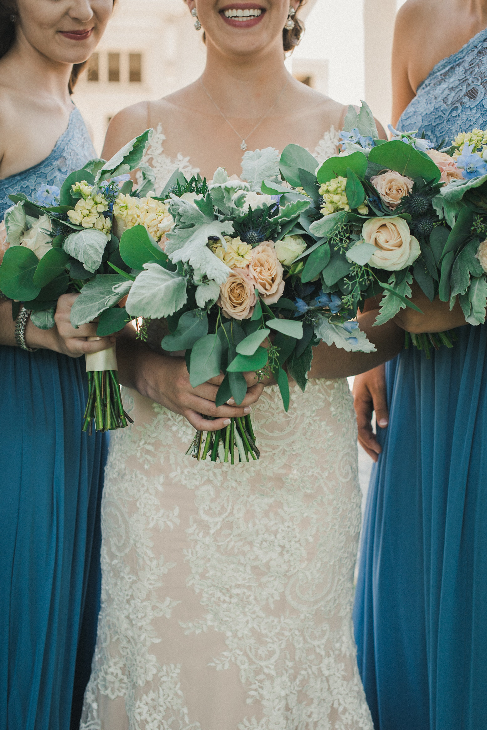 Bouquets and dresses