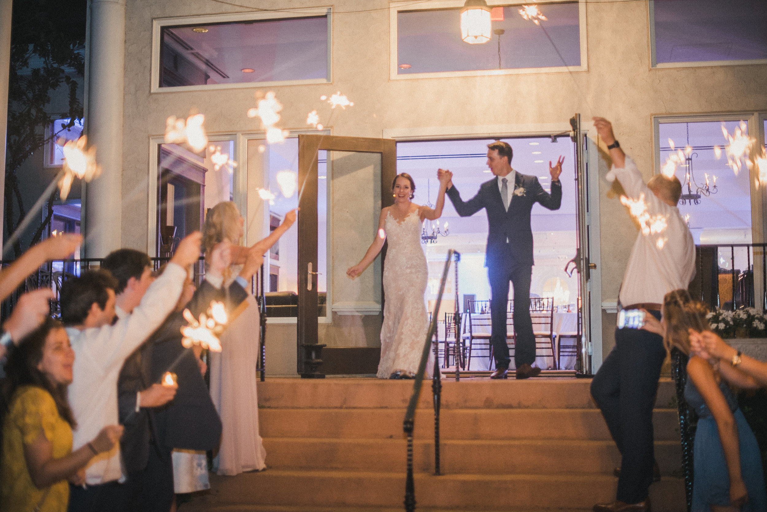 Sparkler exit at wedding