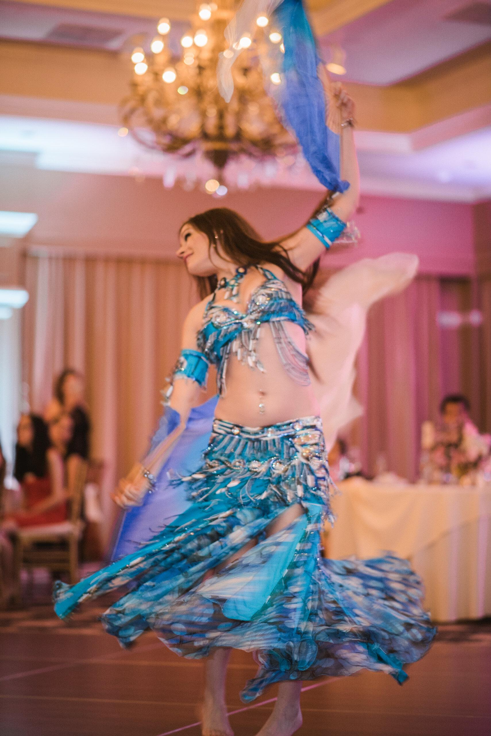 Belly dancer at wedding