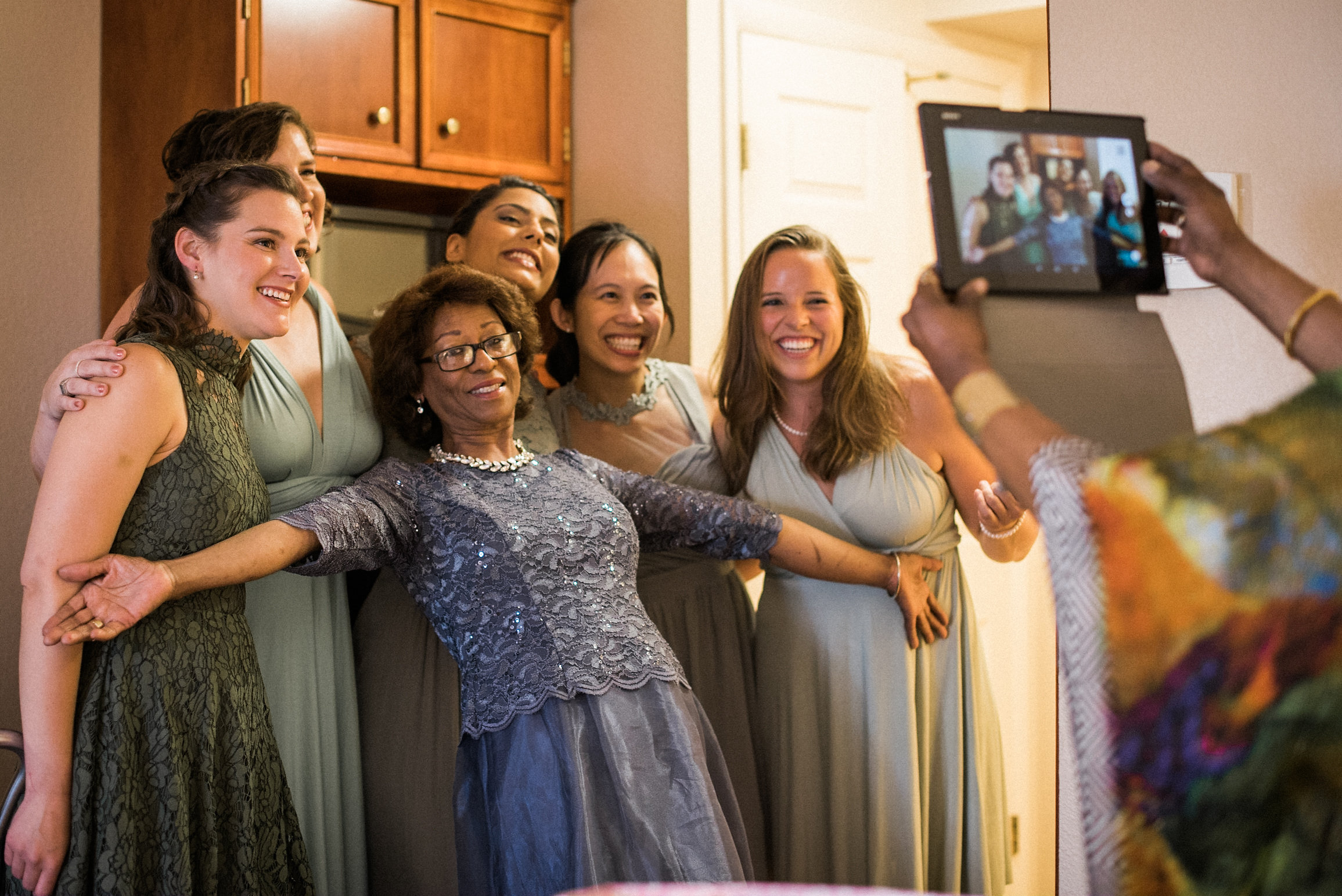 Mother of bride and bridesmaids