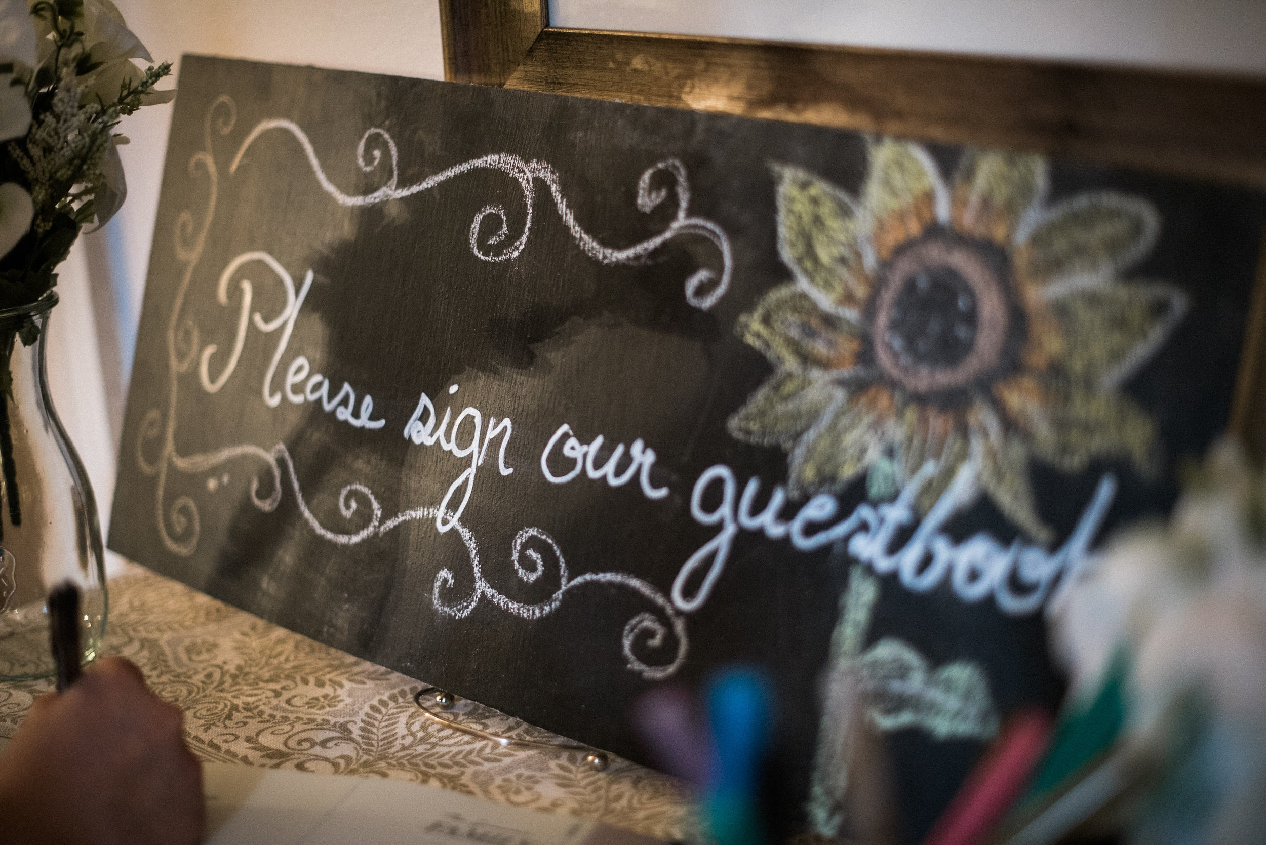 Sunflower guestbook sign