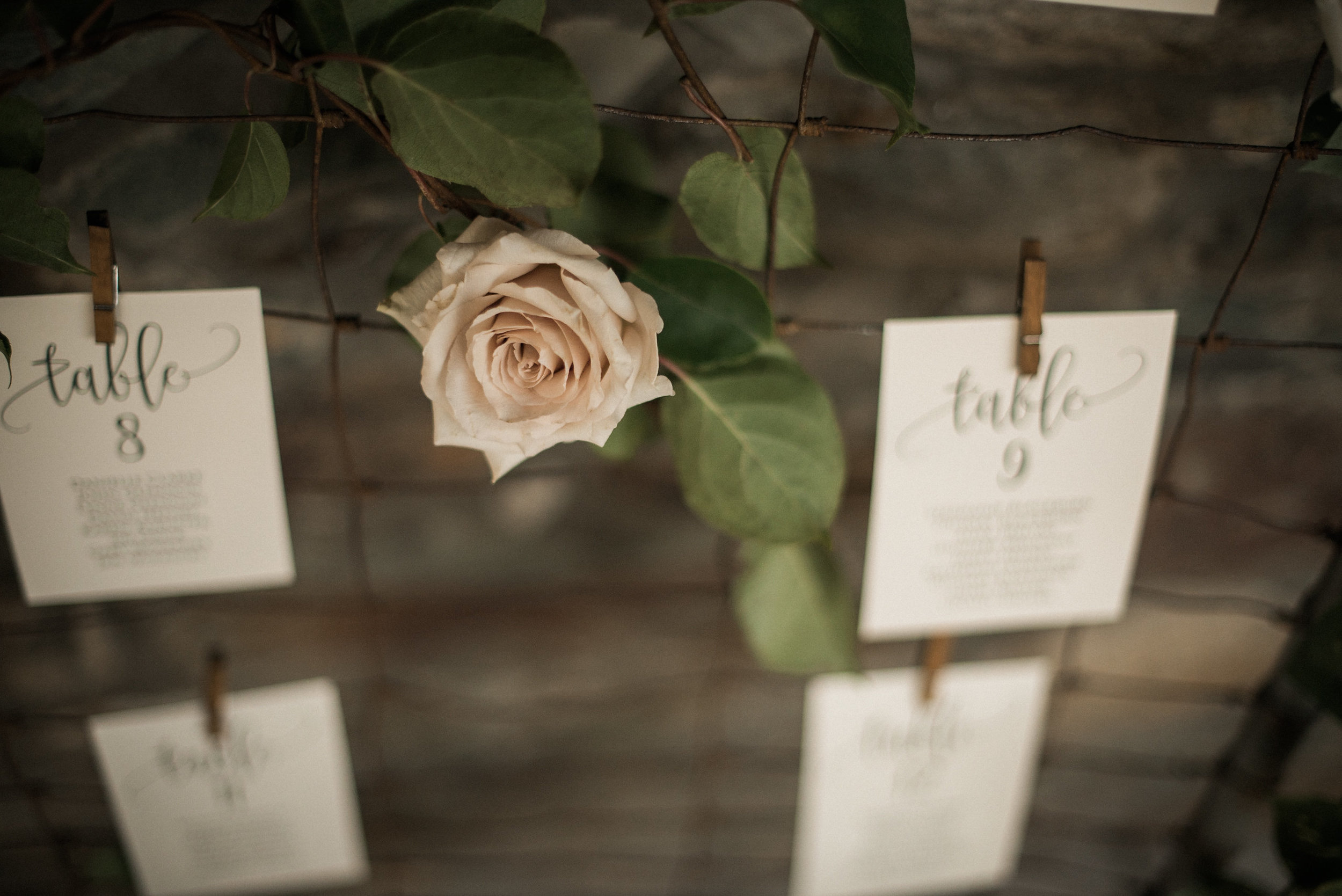Dusty rose at rustic wedding