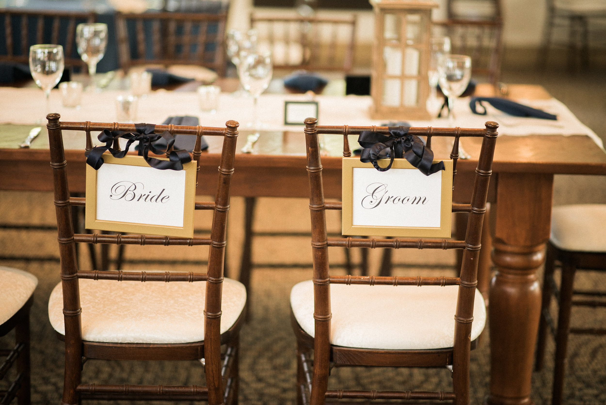 Bride and groom chairs for reception