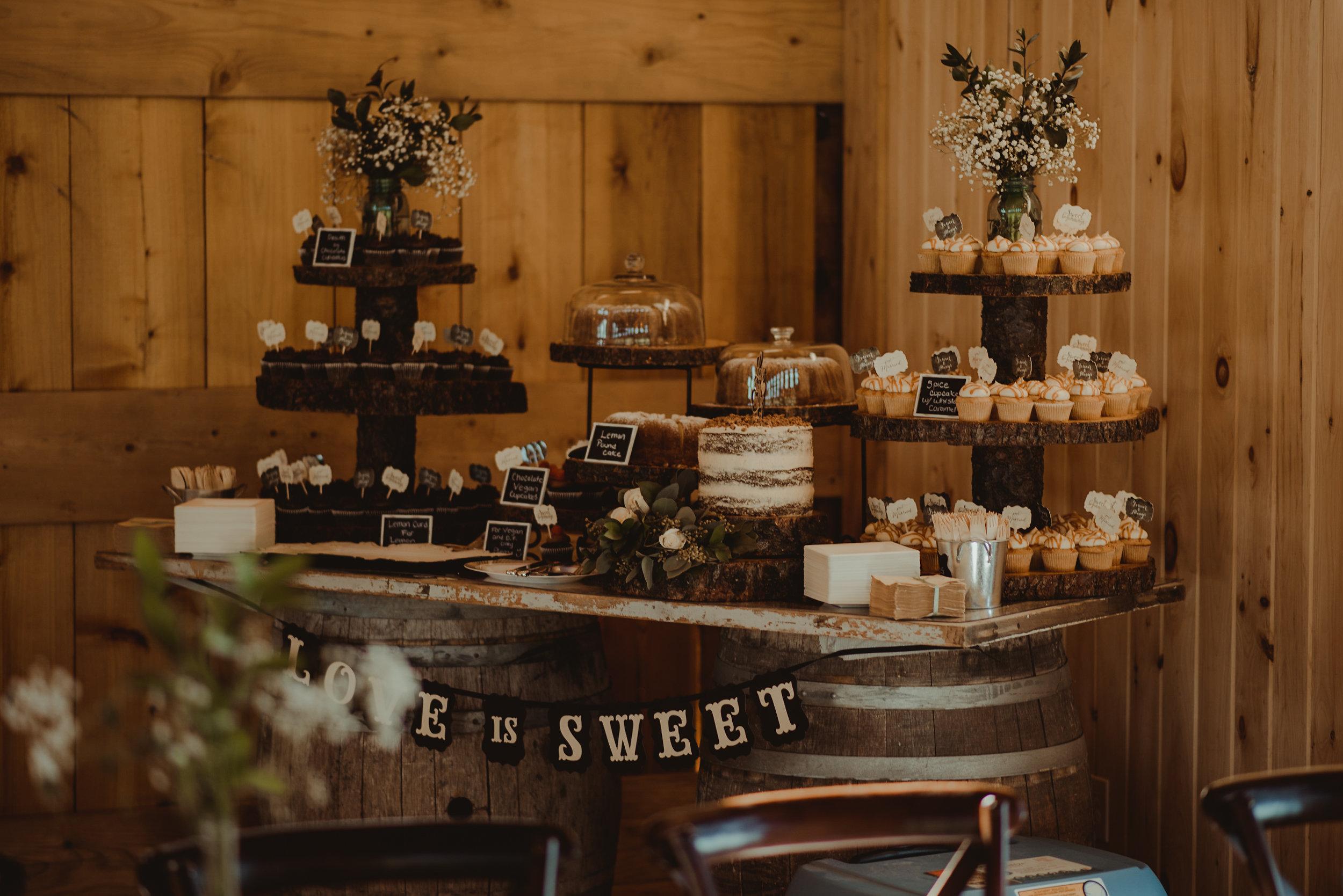 Dessert table at reception