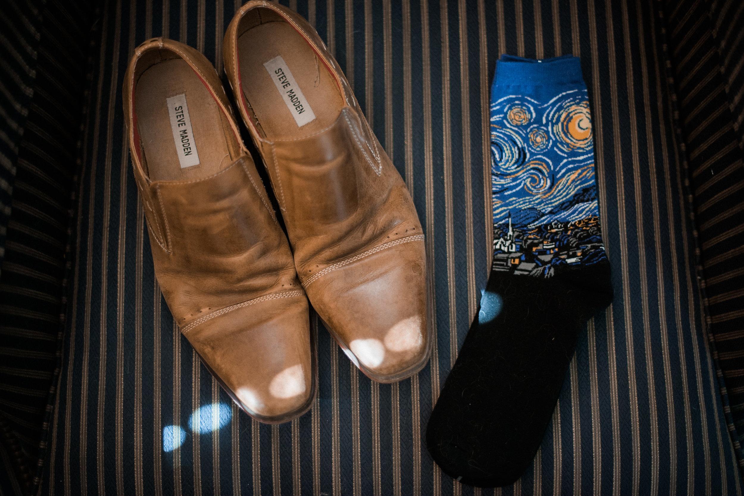 Groom shoes and socks