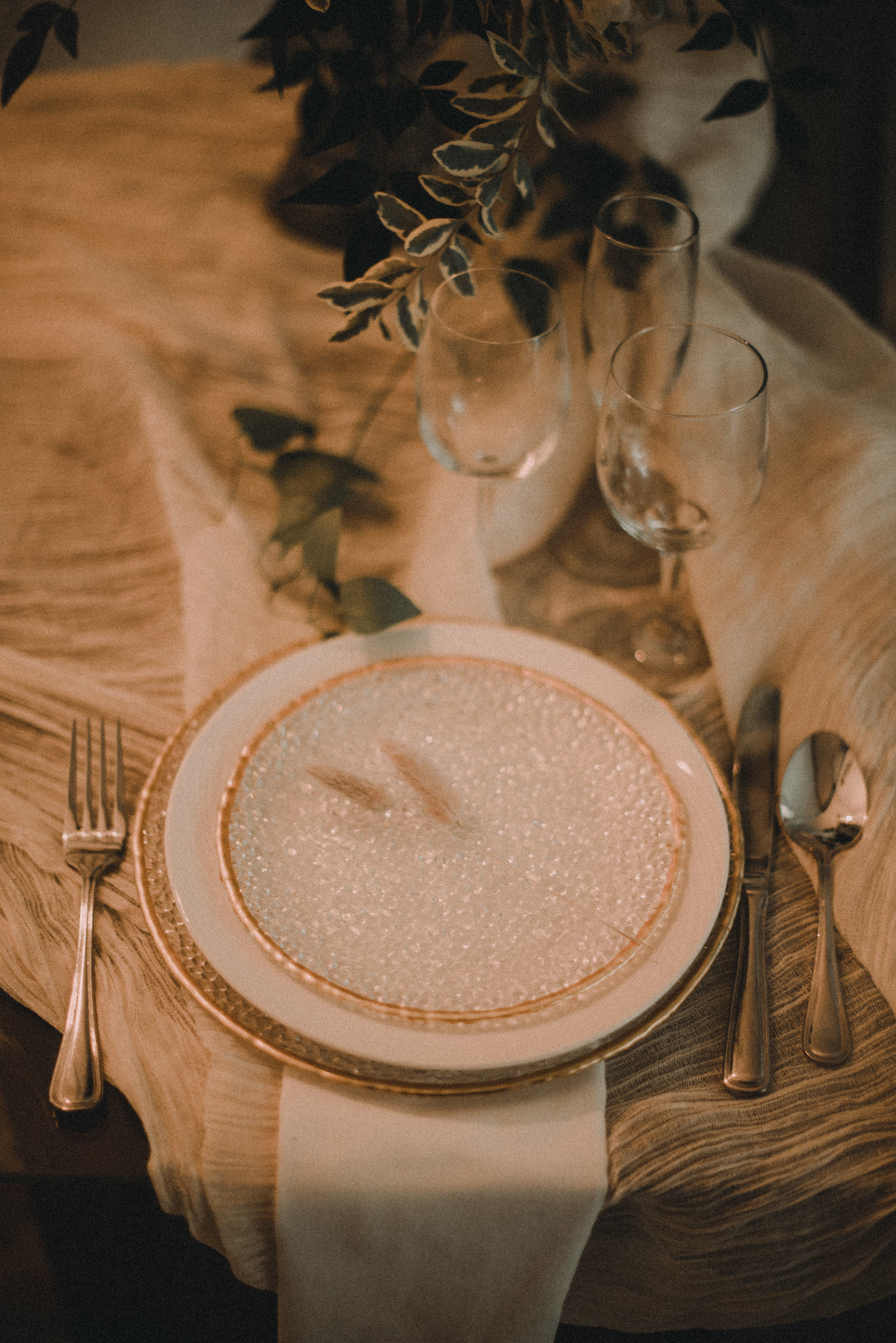 plate on table