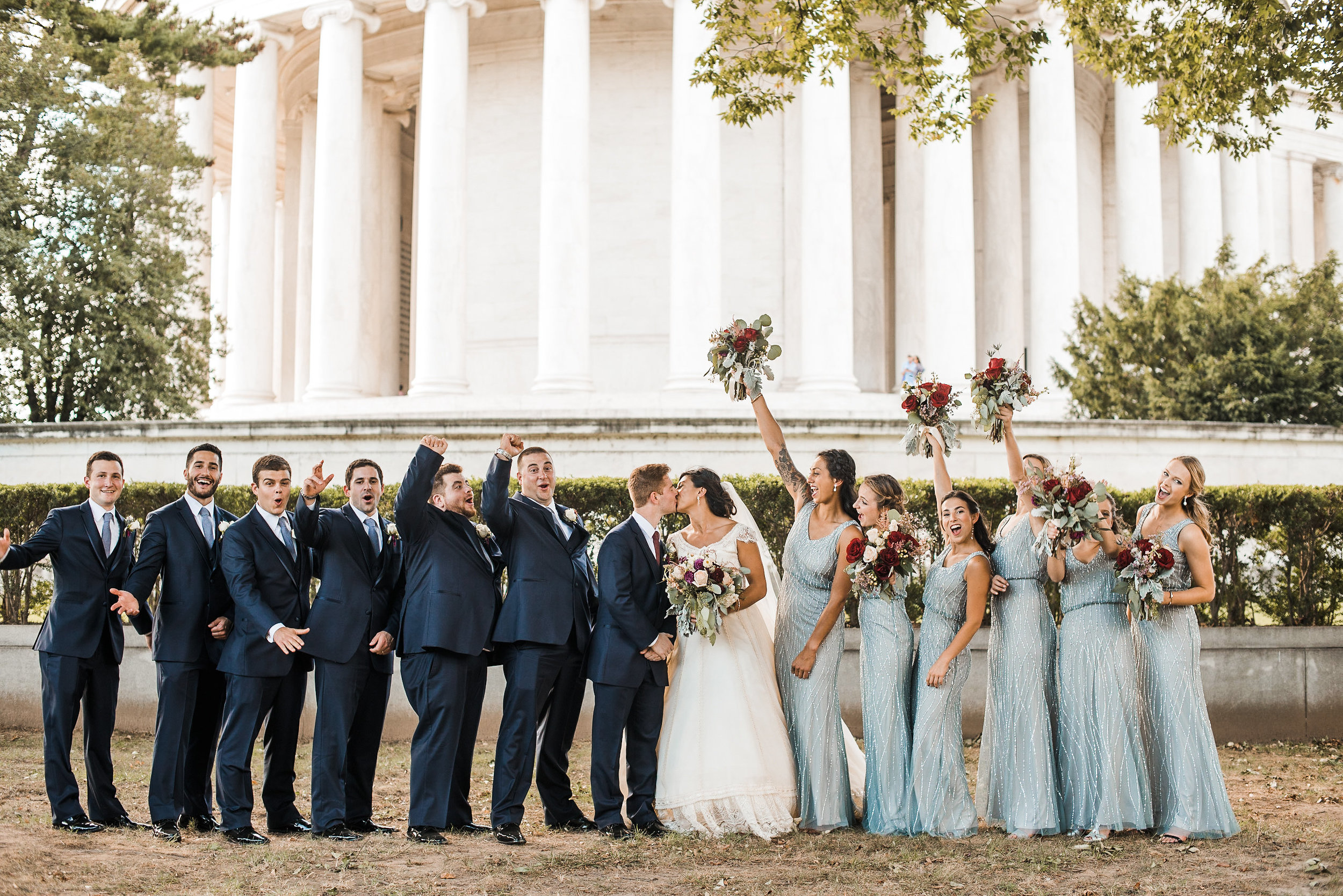 Bridal party in Washington DC