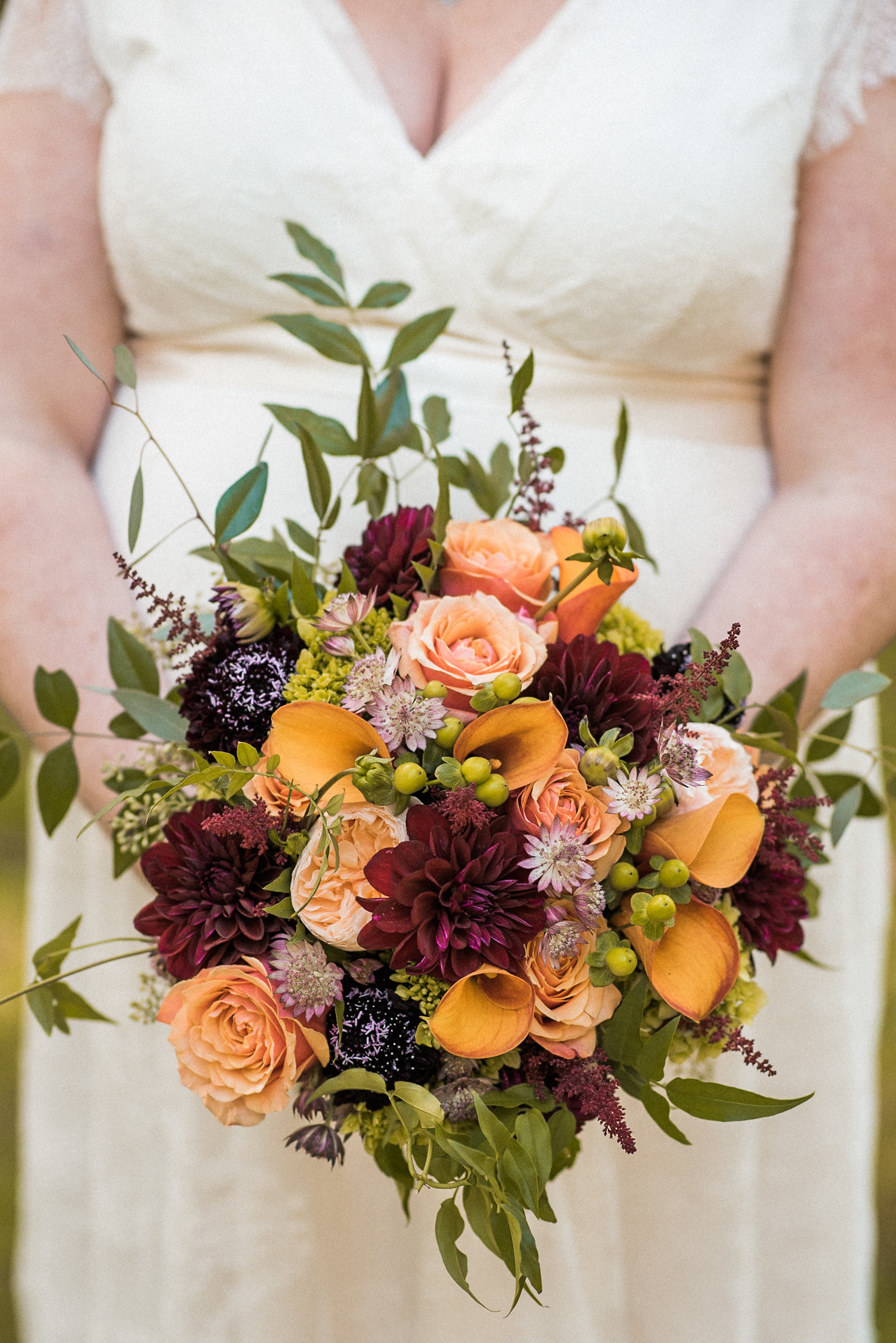 Bride's fall bouquet