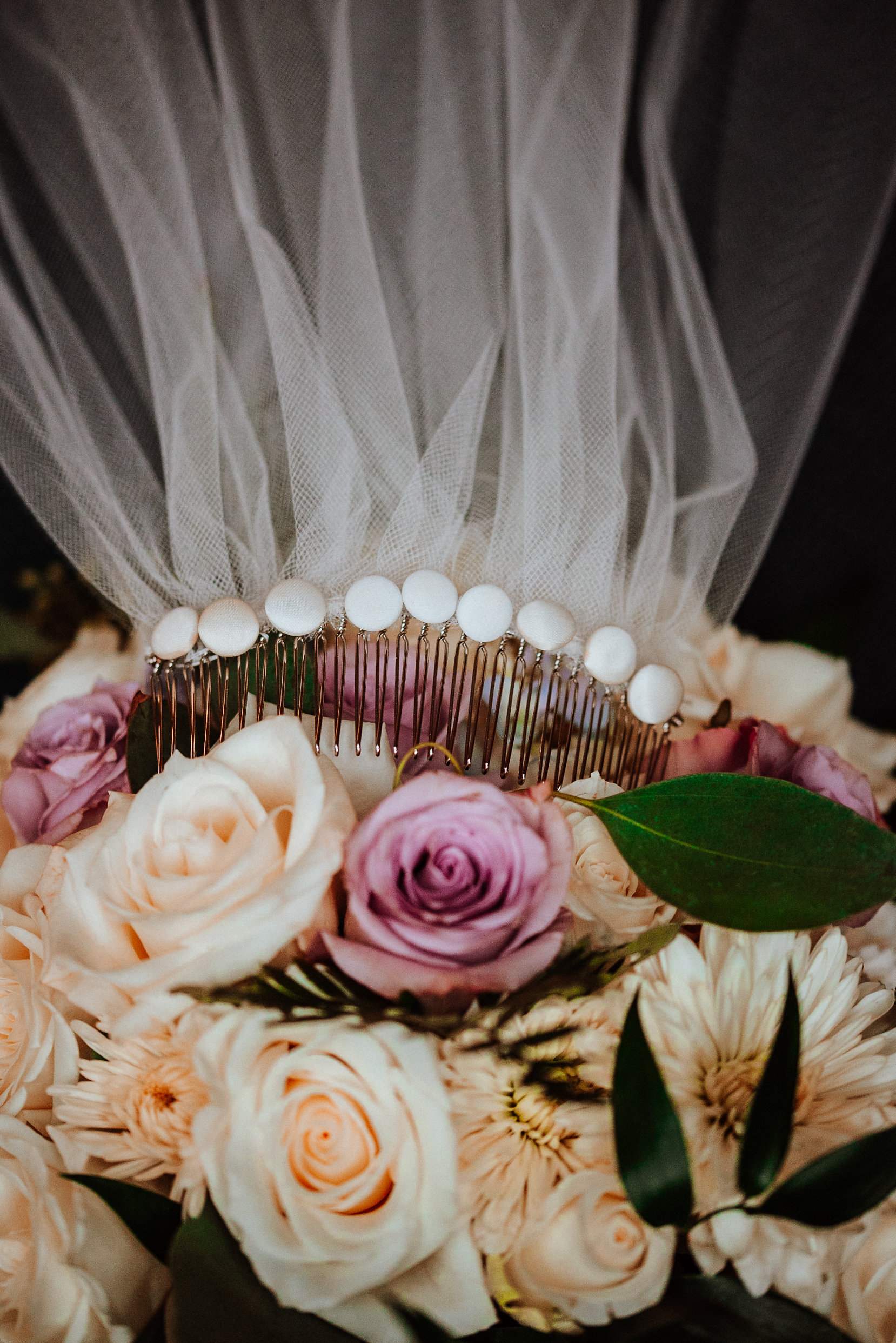 Bride's flowers and veil