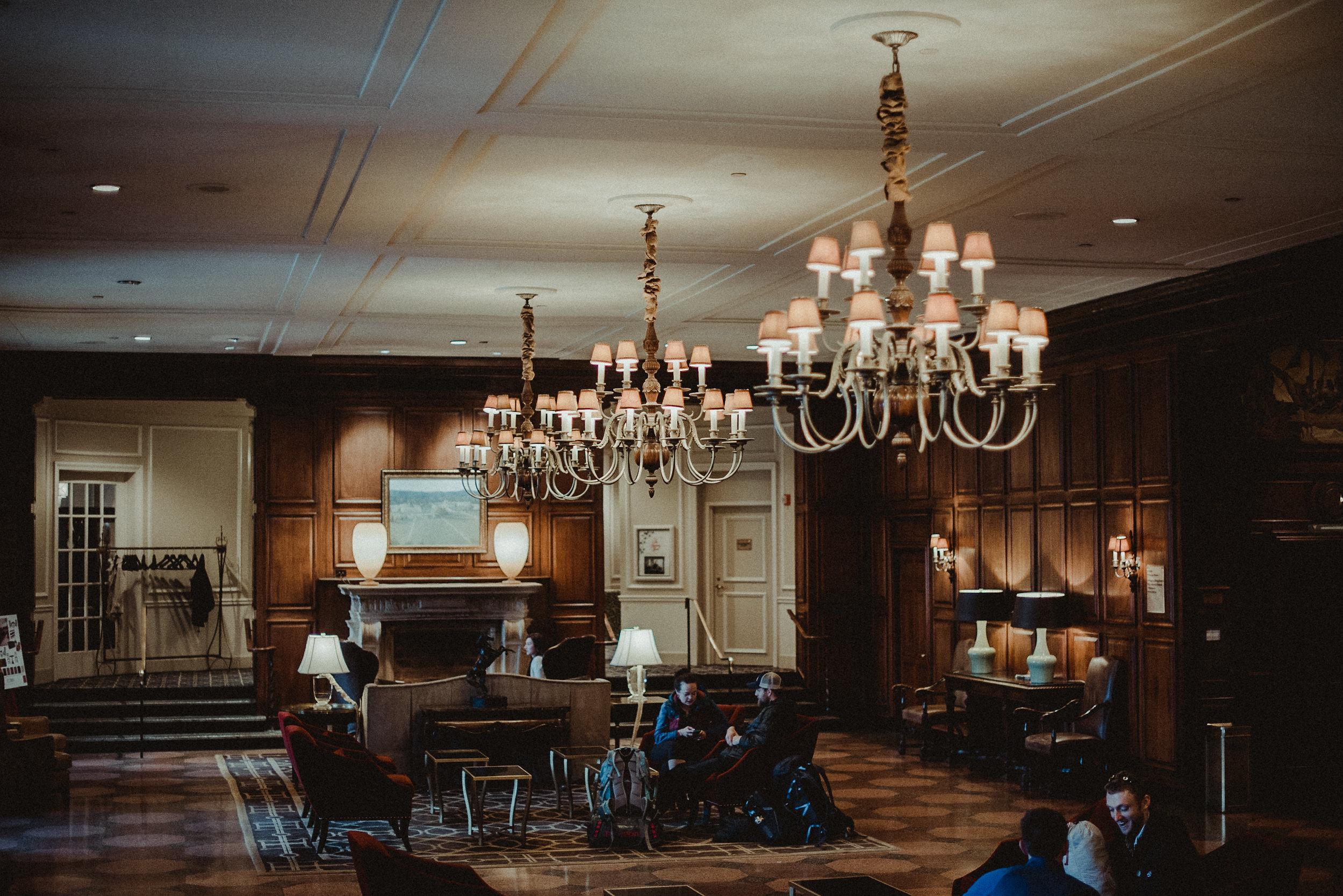 Lounge in the roanoke hotel