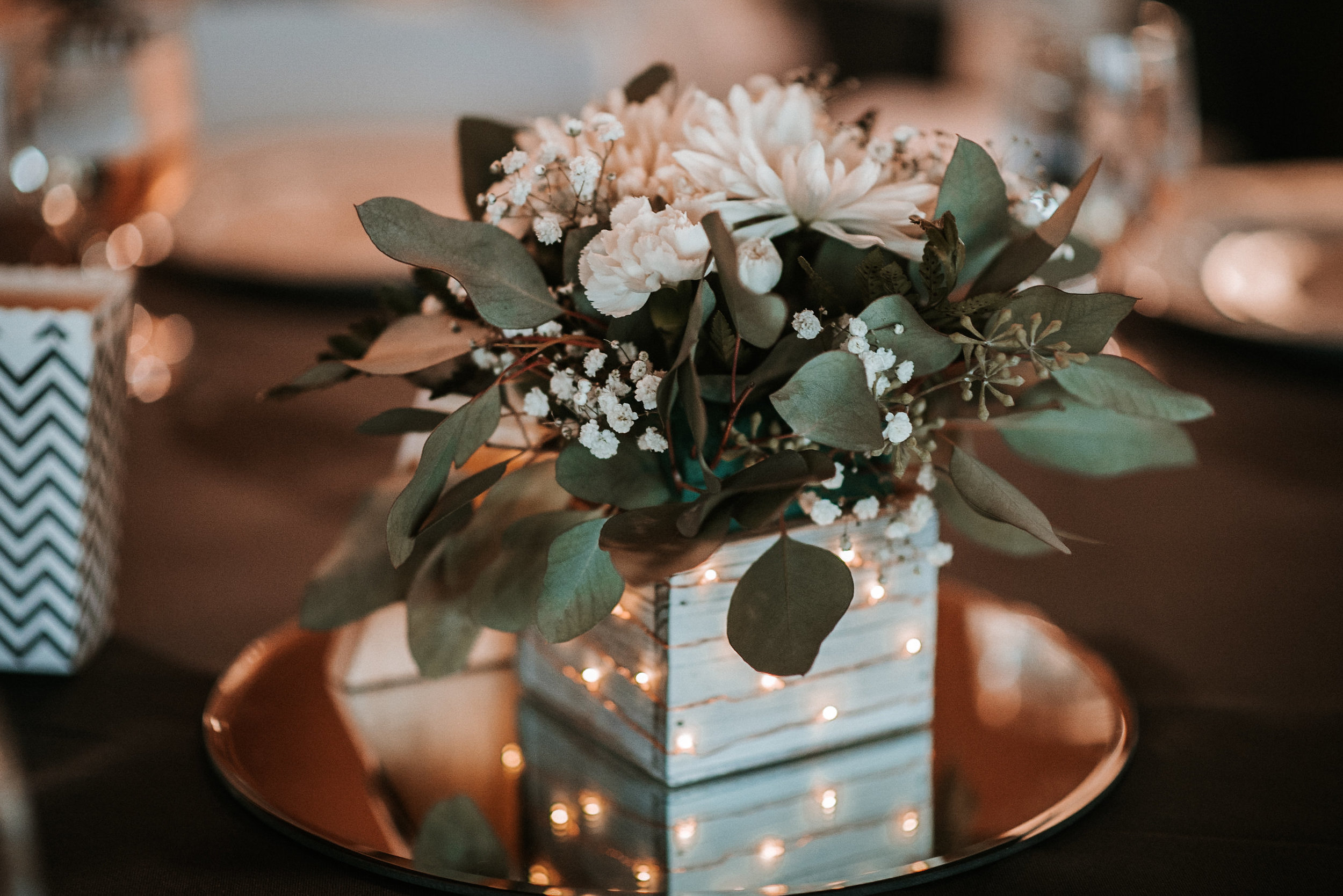 Centerpieces at wedding reception