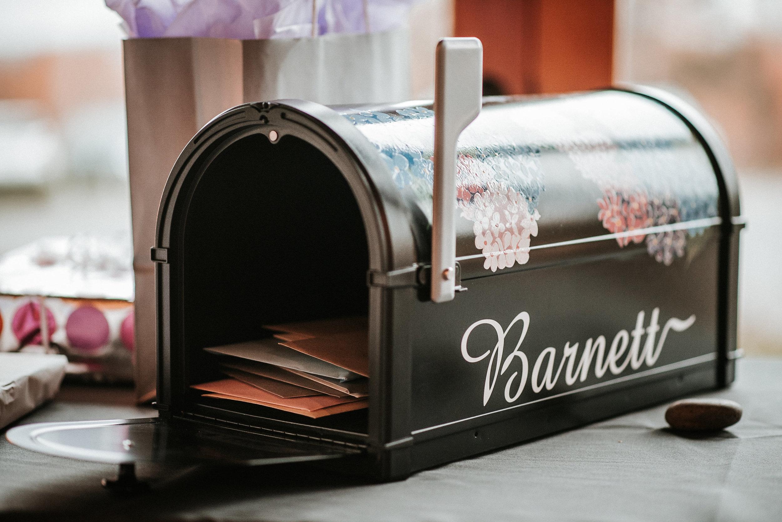 Mailbox card box at wedding