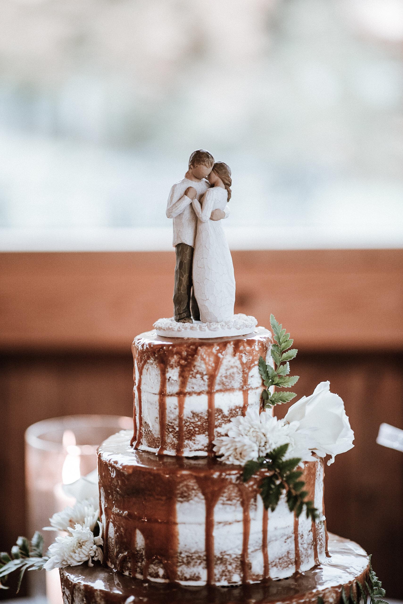 Top of wedding cake