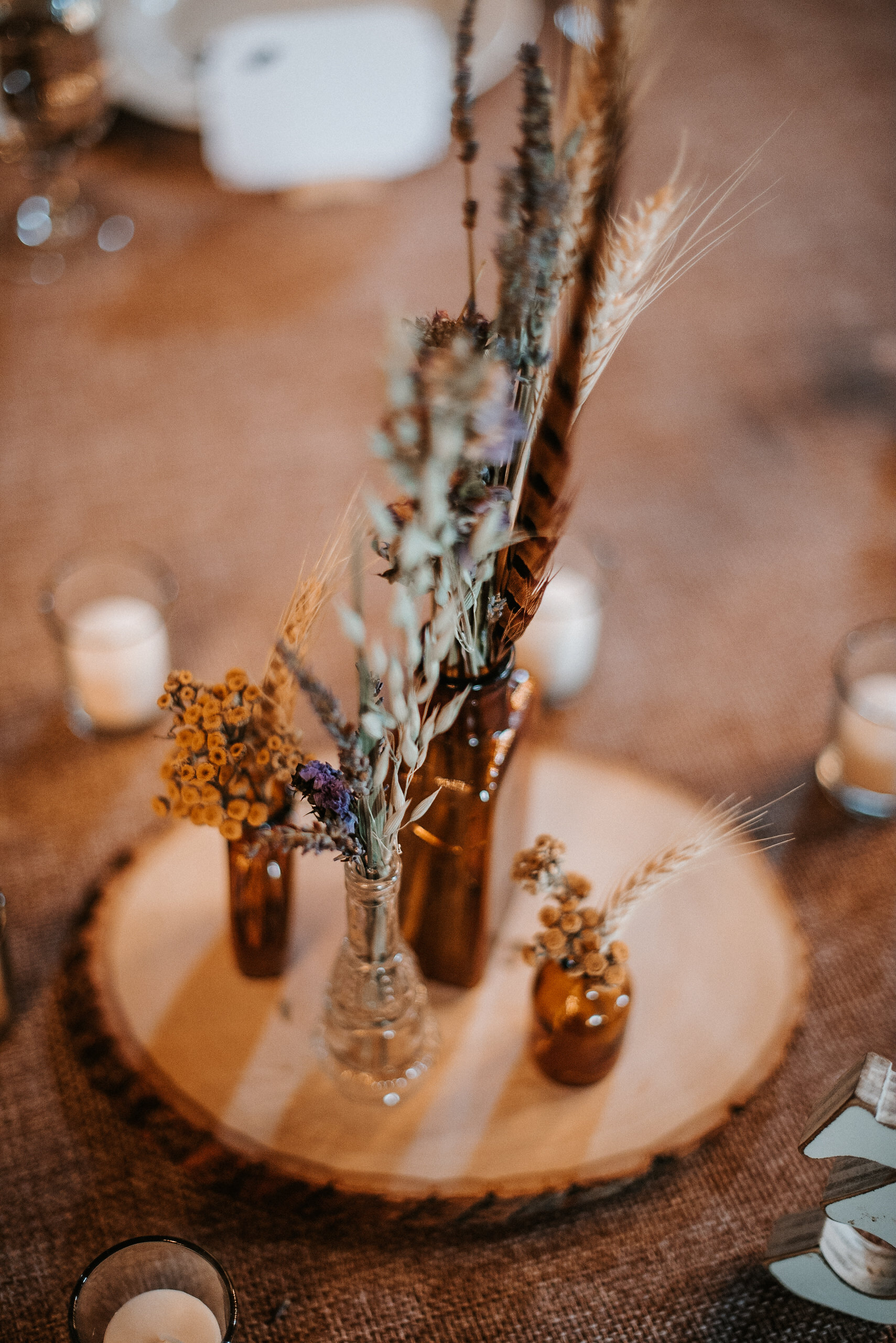 Rustic fall table setting
