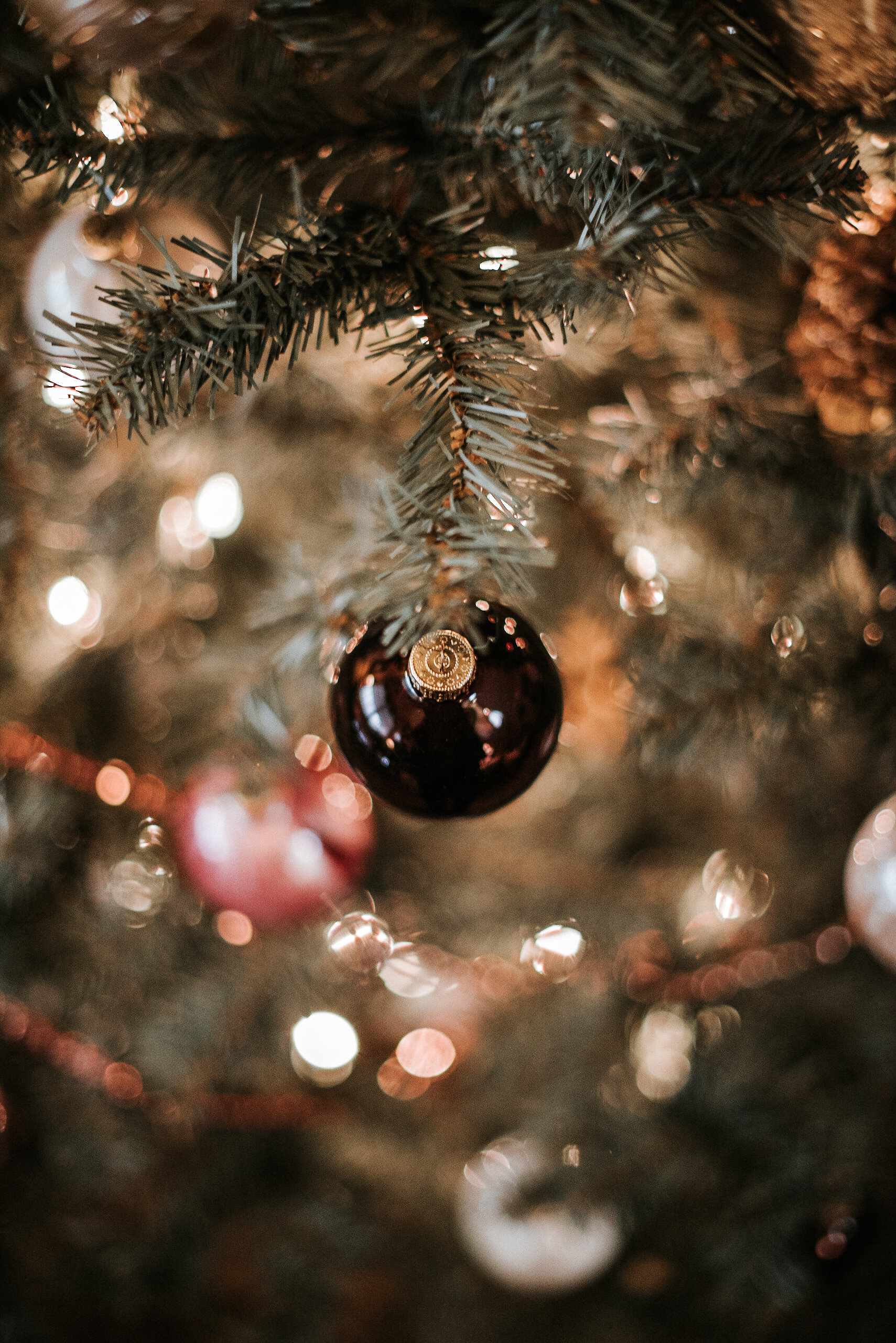 Christmas ornament on Christmas tree