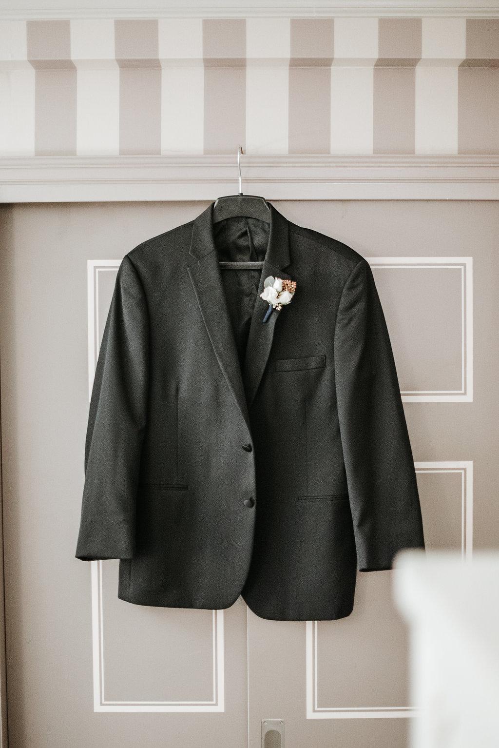 the madison dc hotel groom detail wedding photo