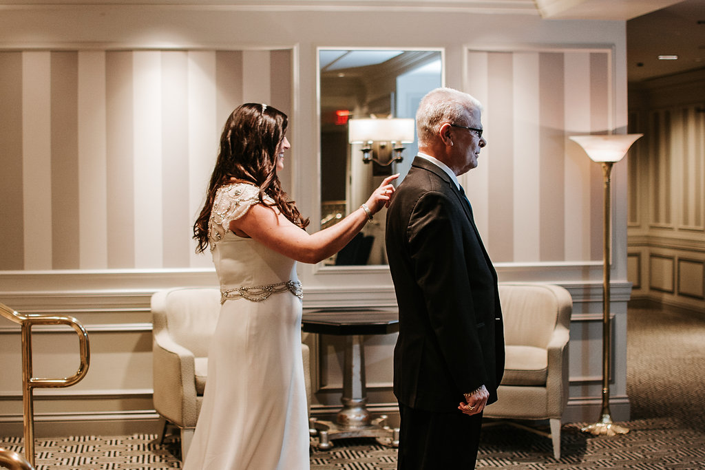 the madison dc hotel dad first look wedding photo