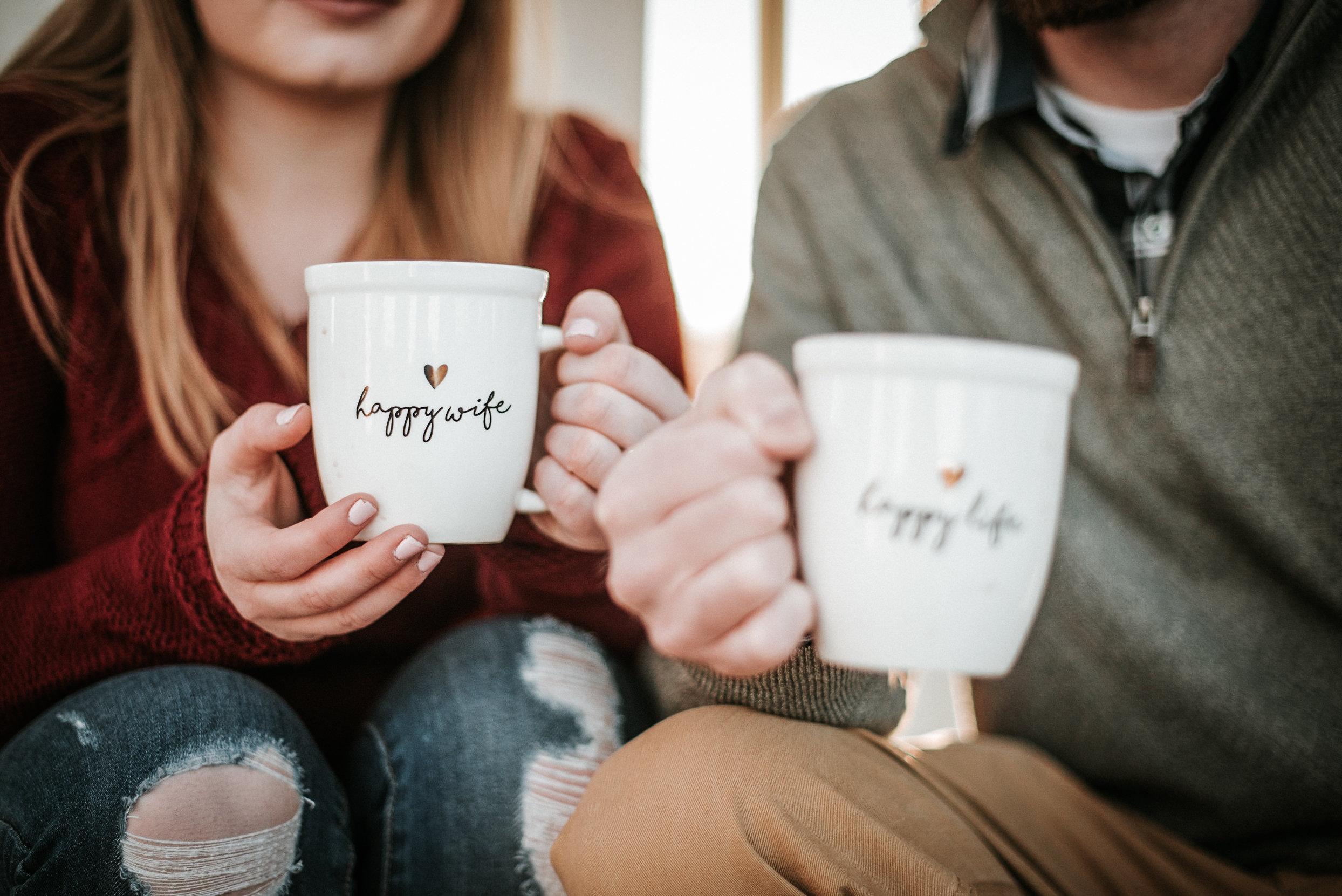 Husband and wife mugs